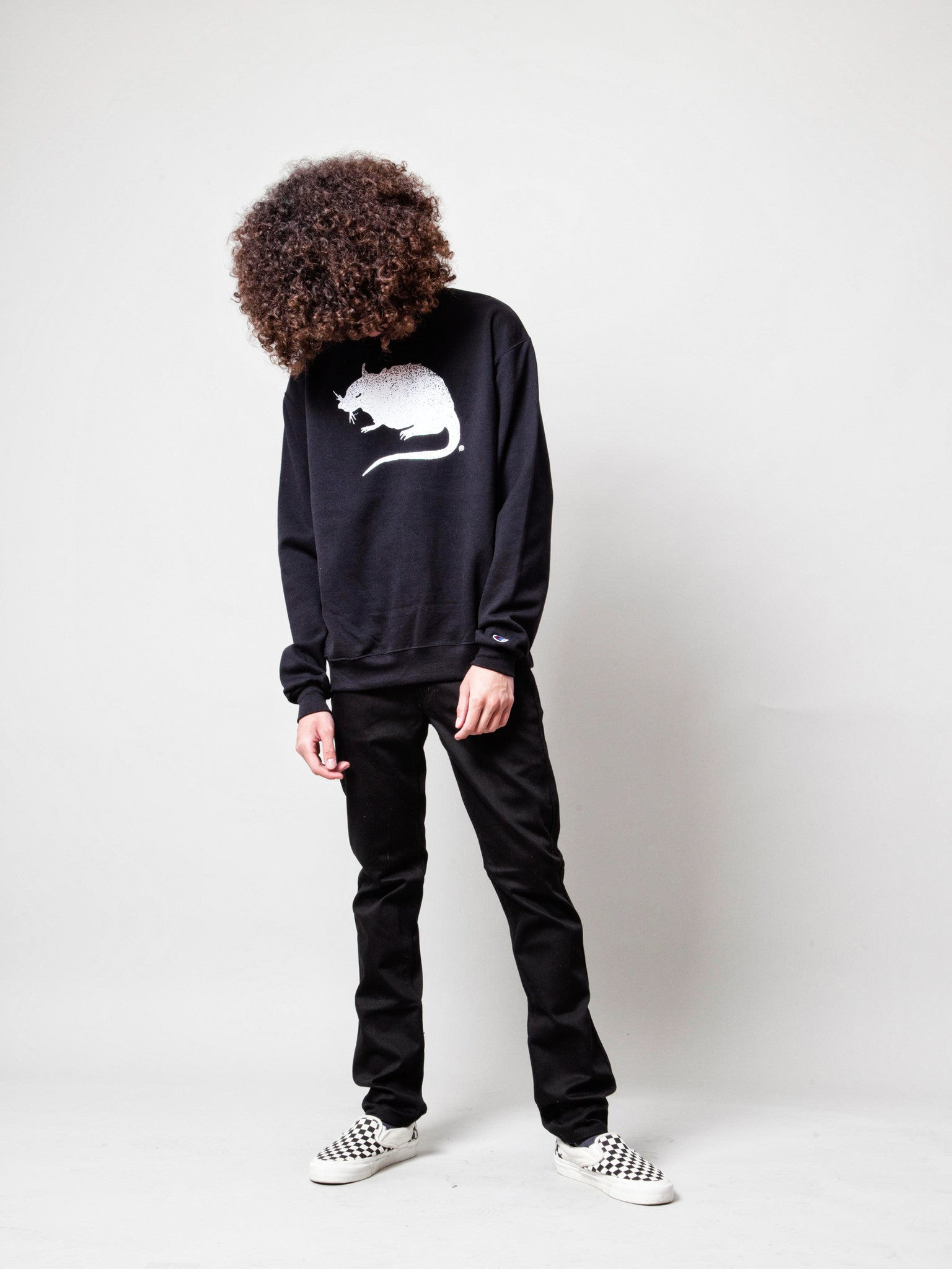 Black Logo Crewneck Sweatshirt 4