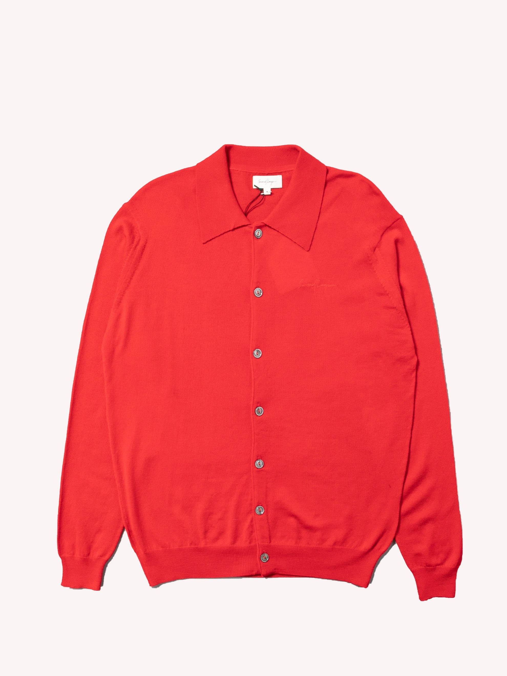 Red B-Side Button Down 1