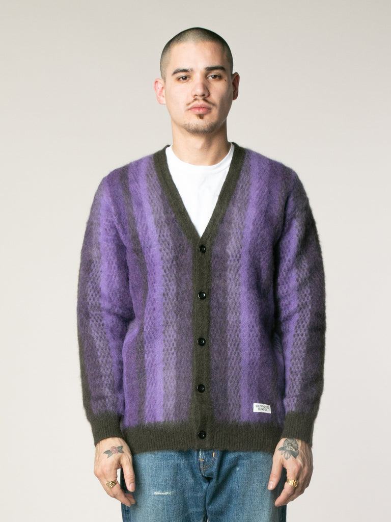 Striped Mohair Cardigan13753564069965