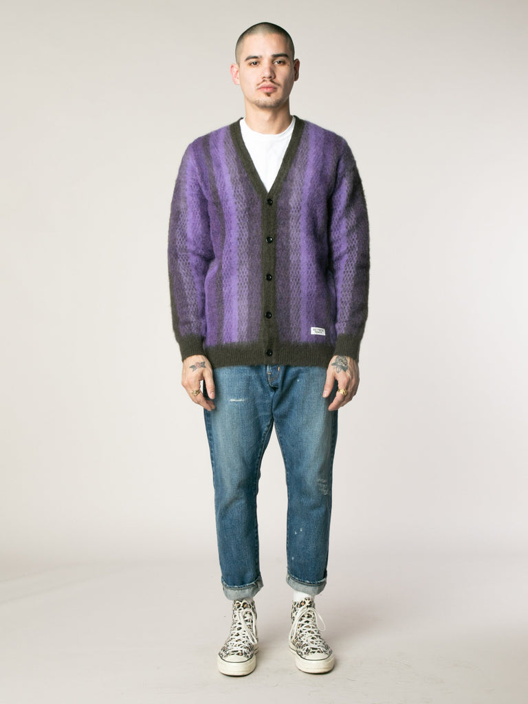 Striped Mohair Cardigan13753564102733