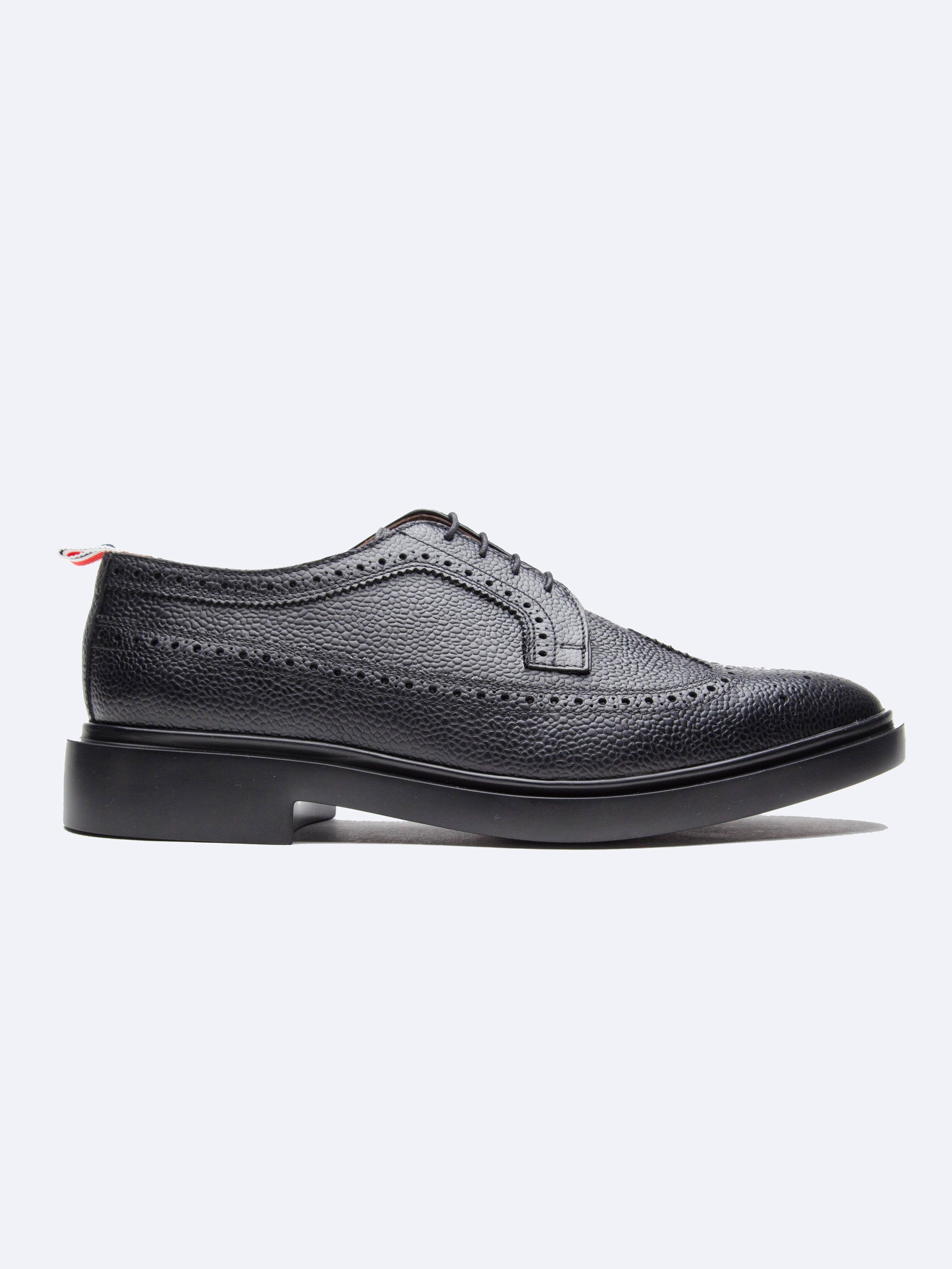 Black Classic Long Wing Brogue (Lightweight Rubber Sole/Pebble Grain) 1