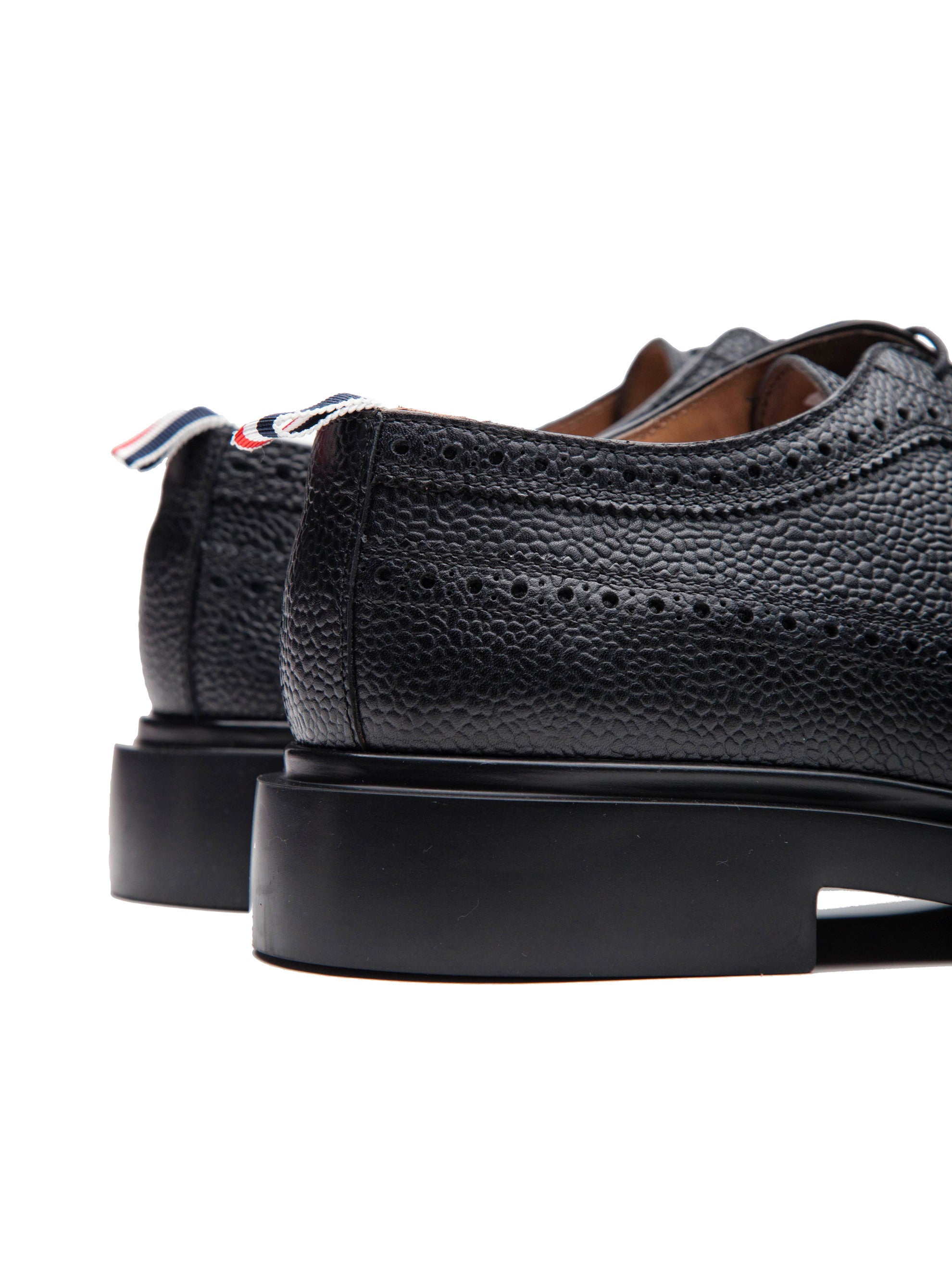 Black Classic Long Wing Brogue (Lightweight Rubber Sole/Pebble Grain) 3