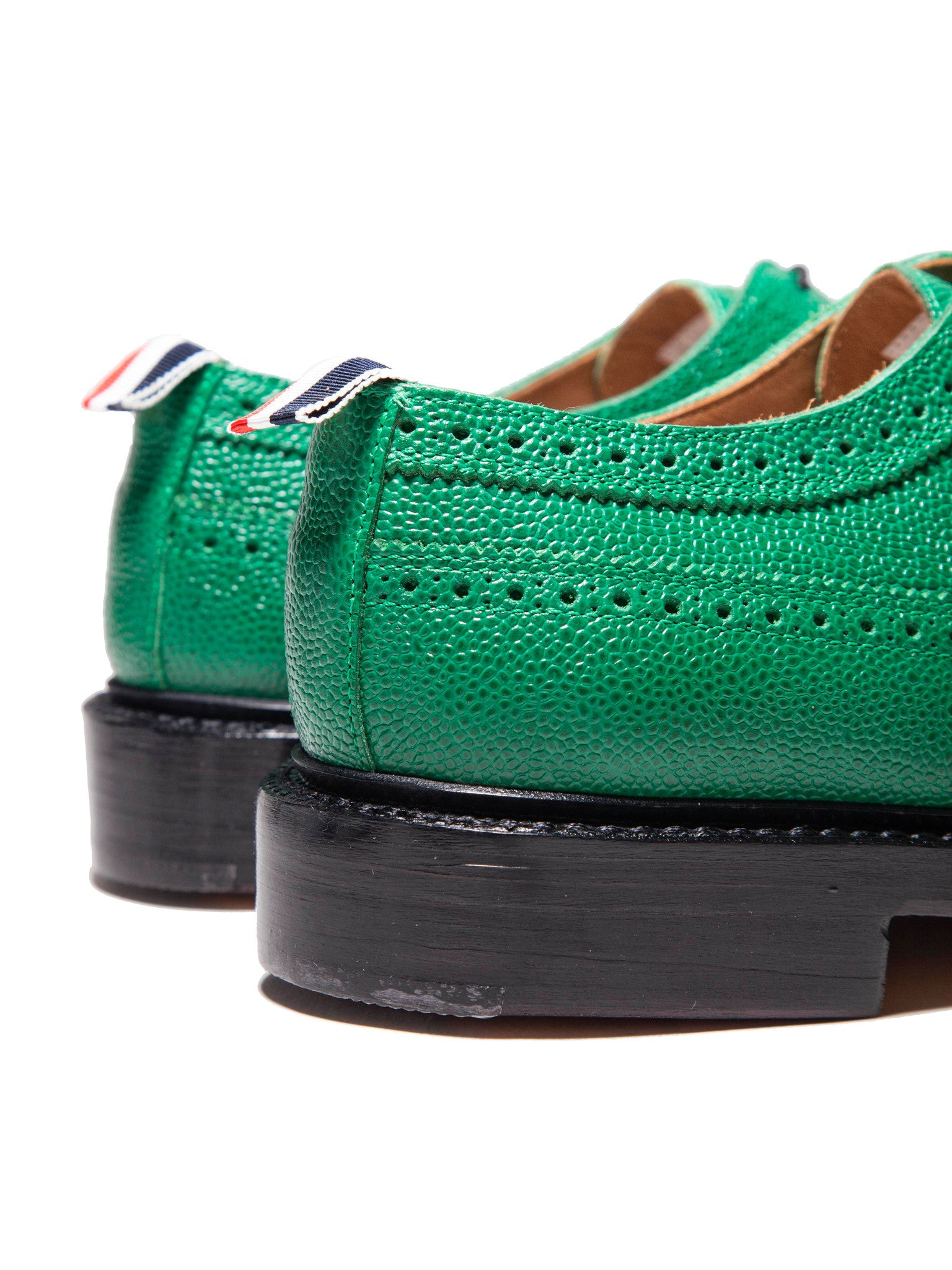 Dark Green Classic Longwing (Leather Sole/Pebble Grain) 2