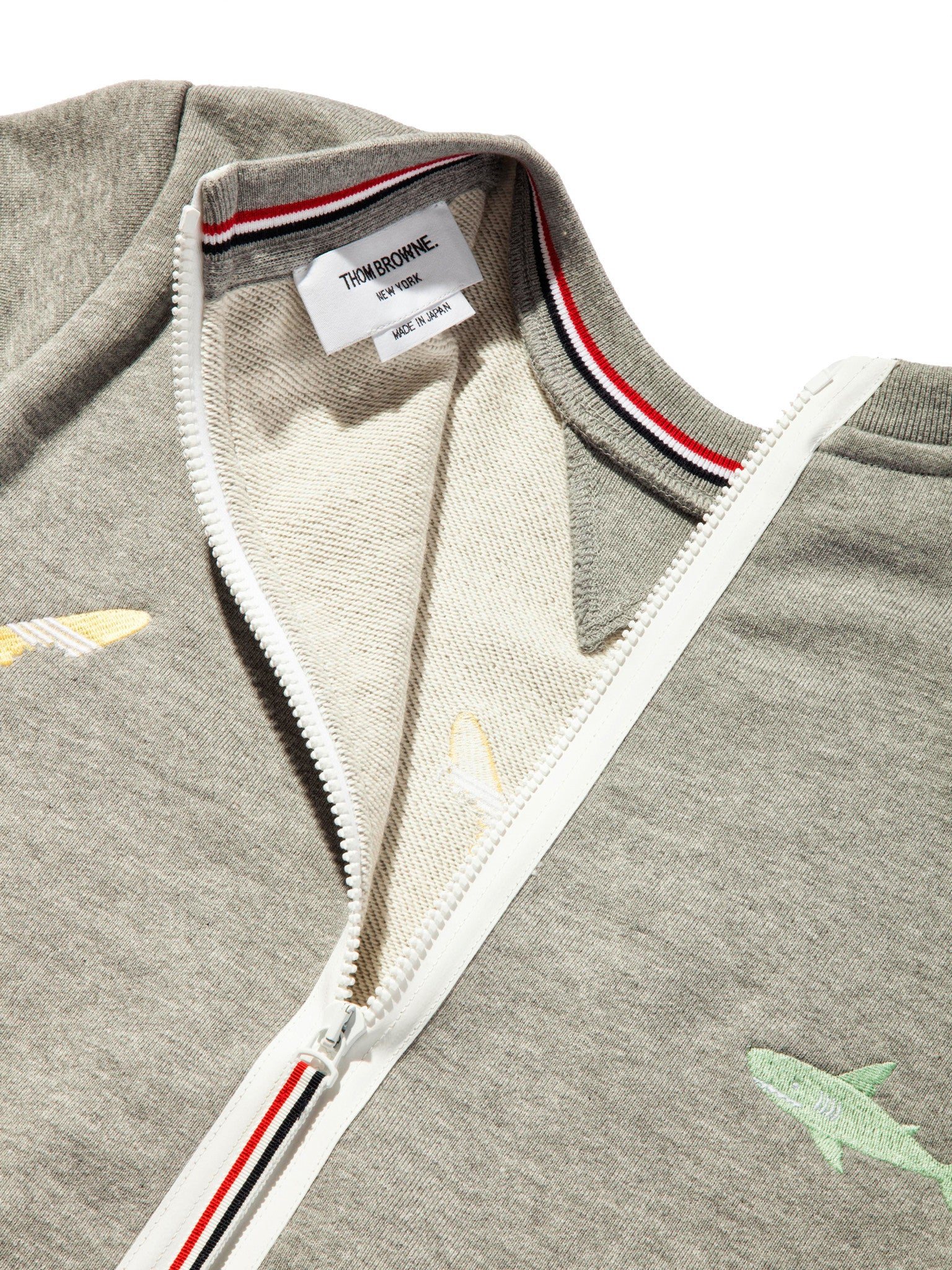 Light Grey Classic Sweatshirt (Aqua Zip Loop Back) 7