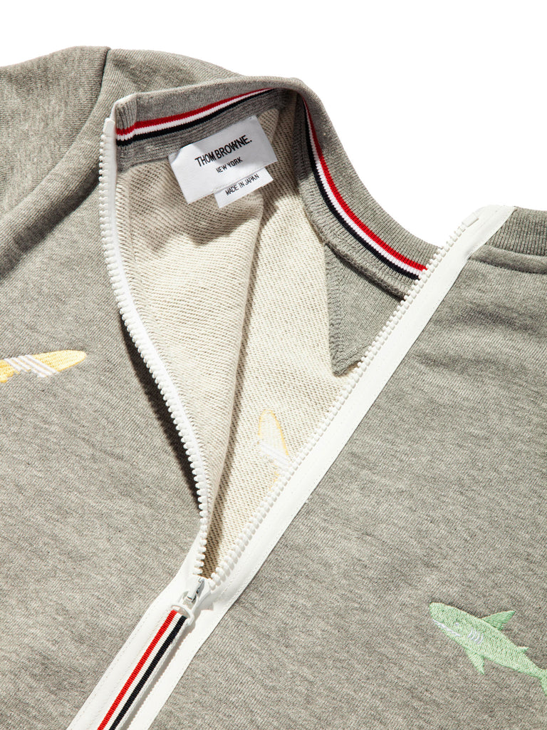 Light Grey Classic Sweatshirt (Aqua Zip Loop Back) 719527518089