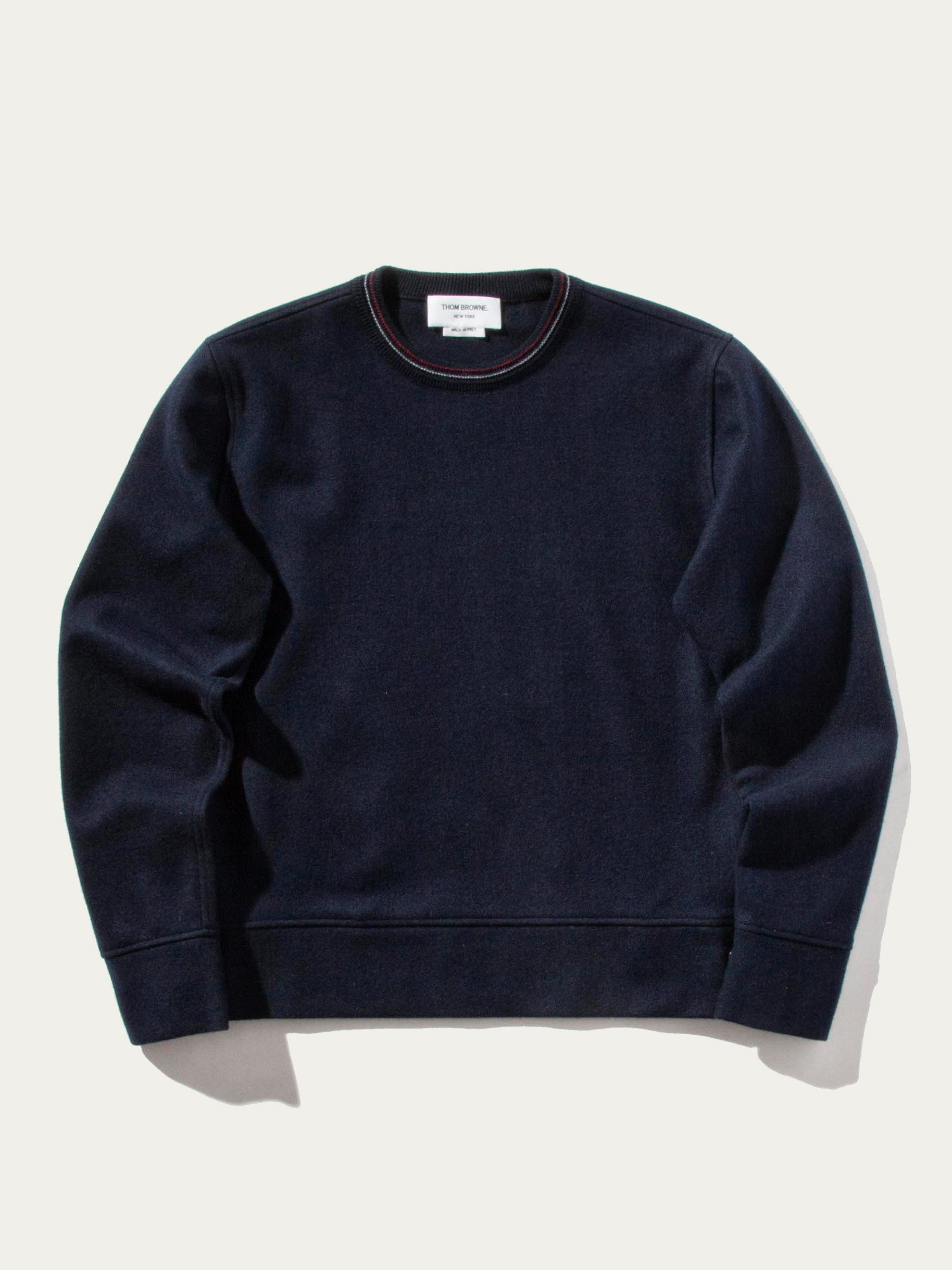 Navy LS Pullover (Boiled Wool) 1