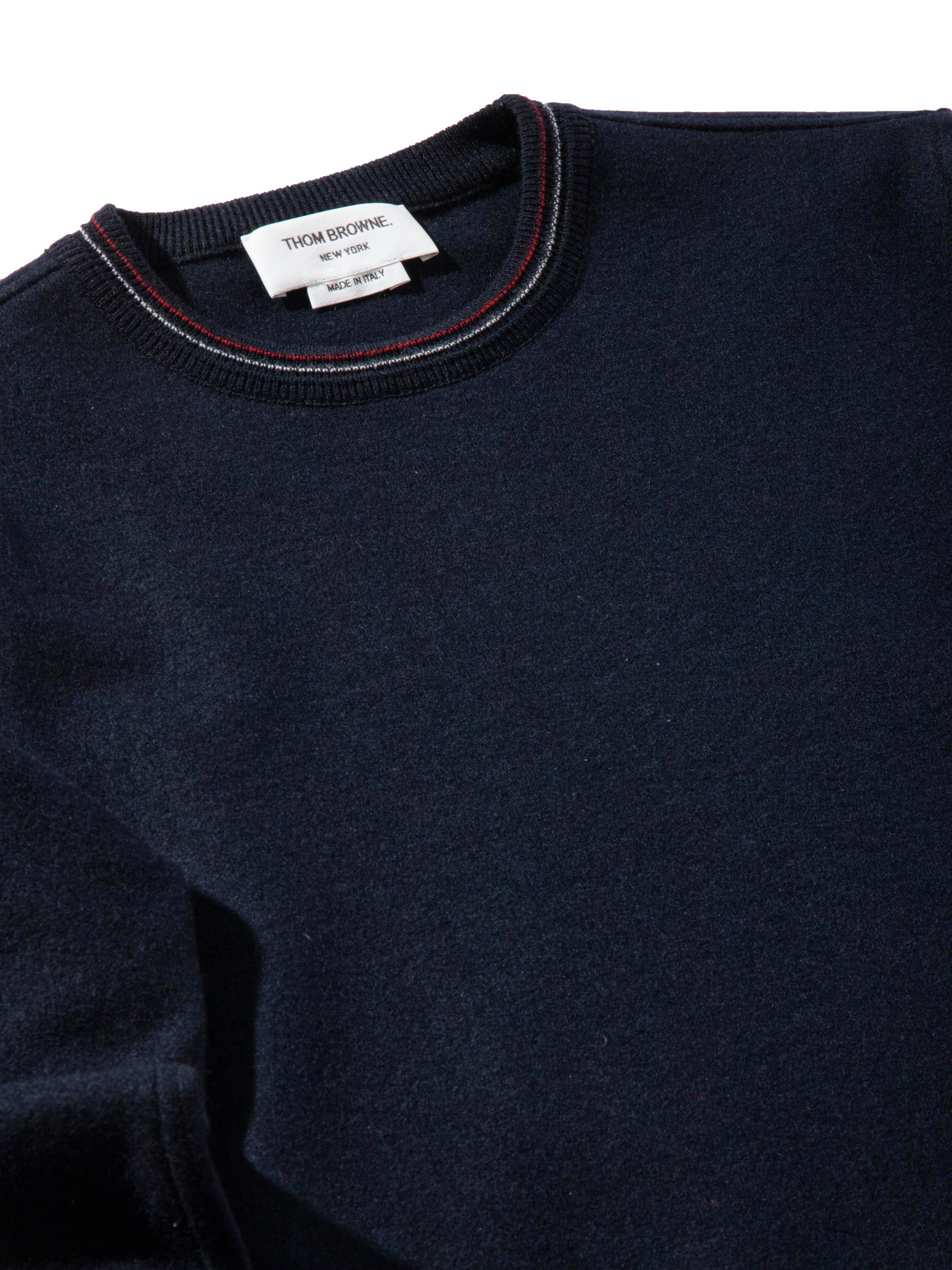 Navy LS Pullover (Boiled Wool) 6