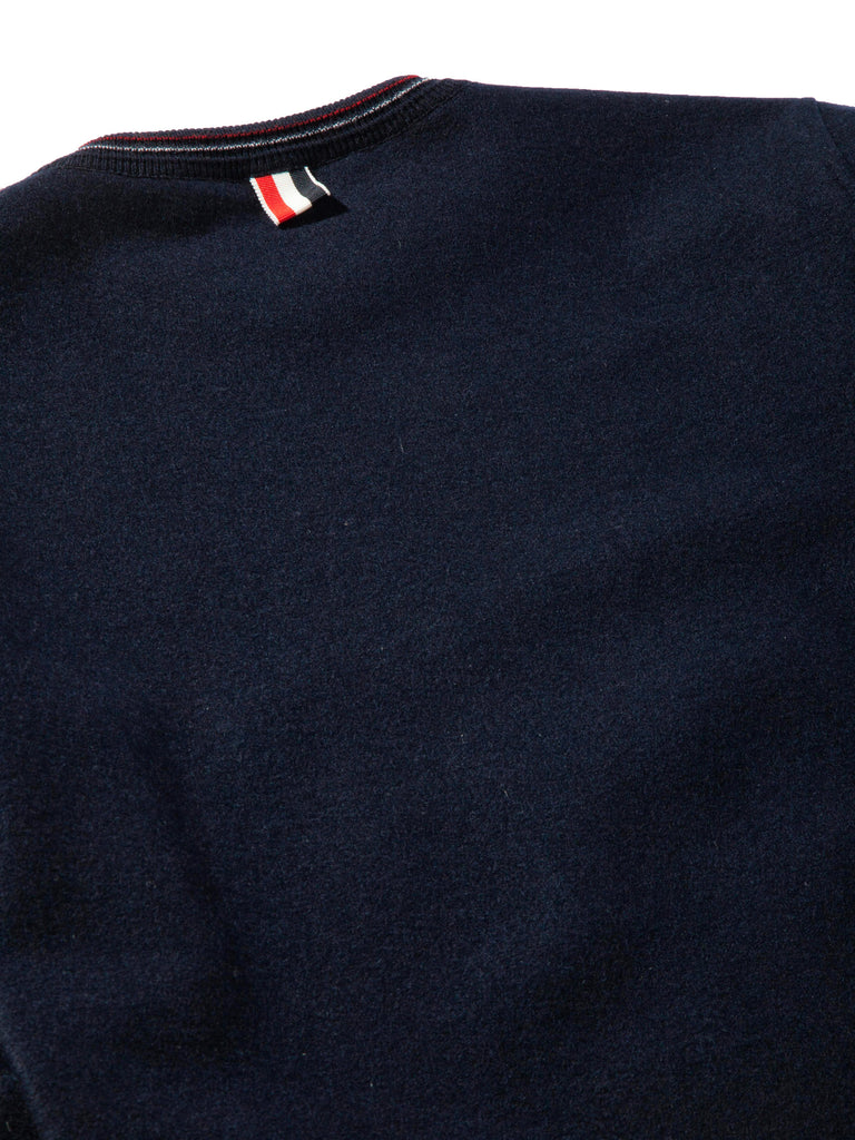 Navy LS Pullover (Boiled Wool) 720632364425