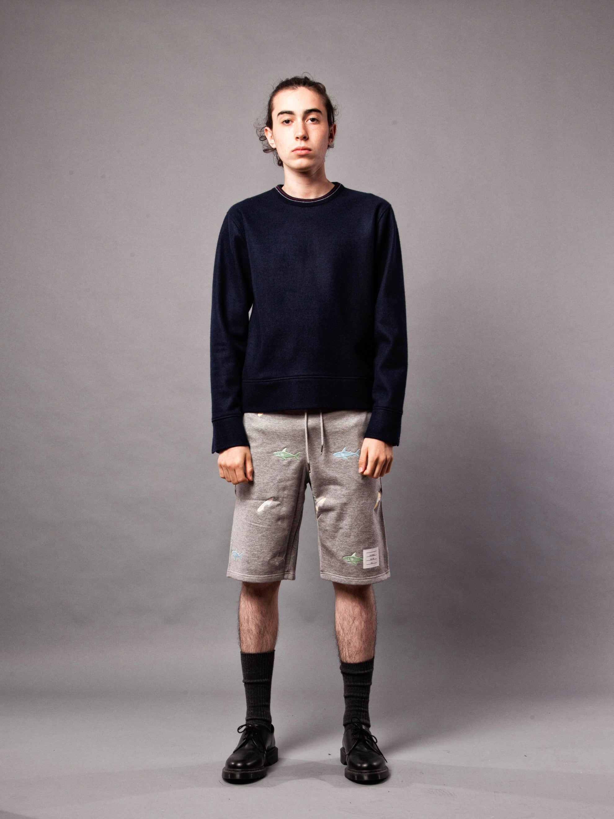 Navy LS Pullover (Boiled Wool) 2