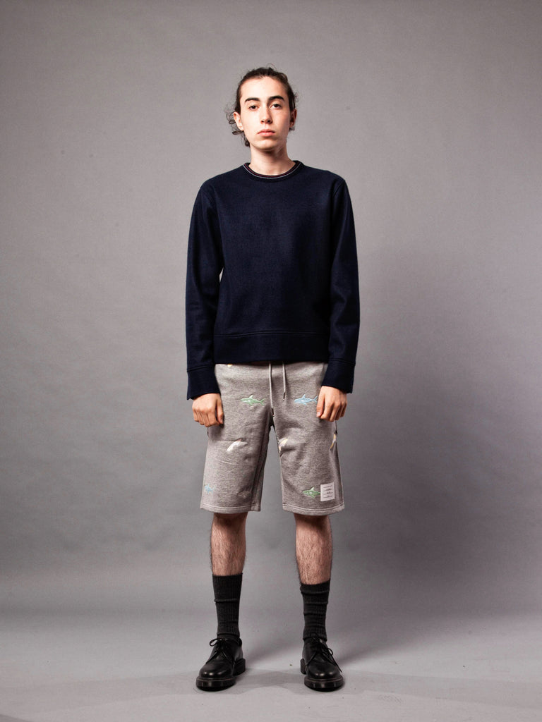 Navy LS Pullover (Boiled Wool) 220632372745