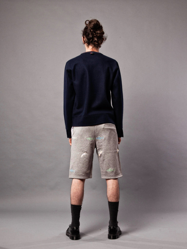Navy LS Pullover (Boiled Wool) 420632379657
