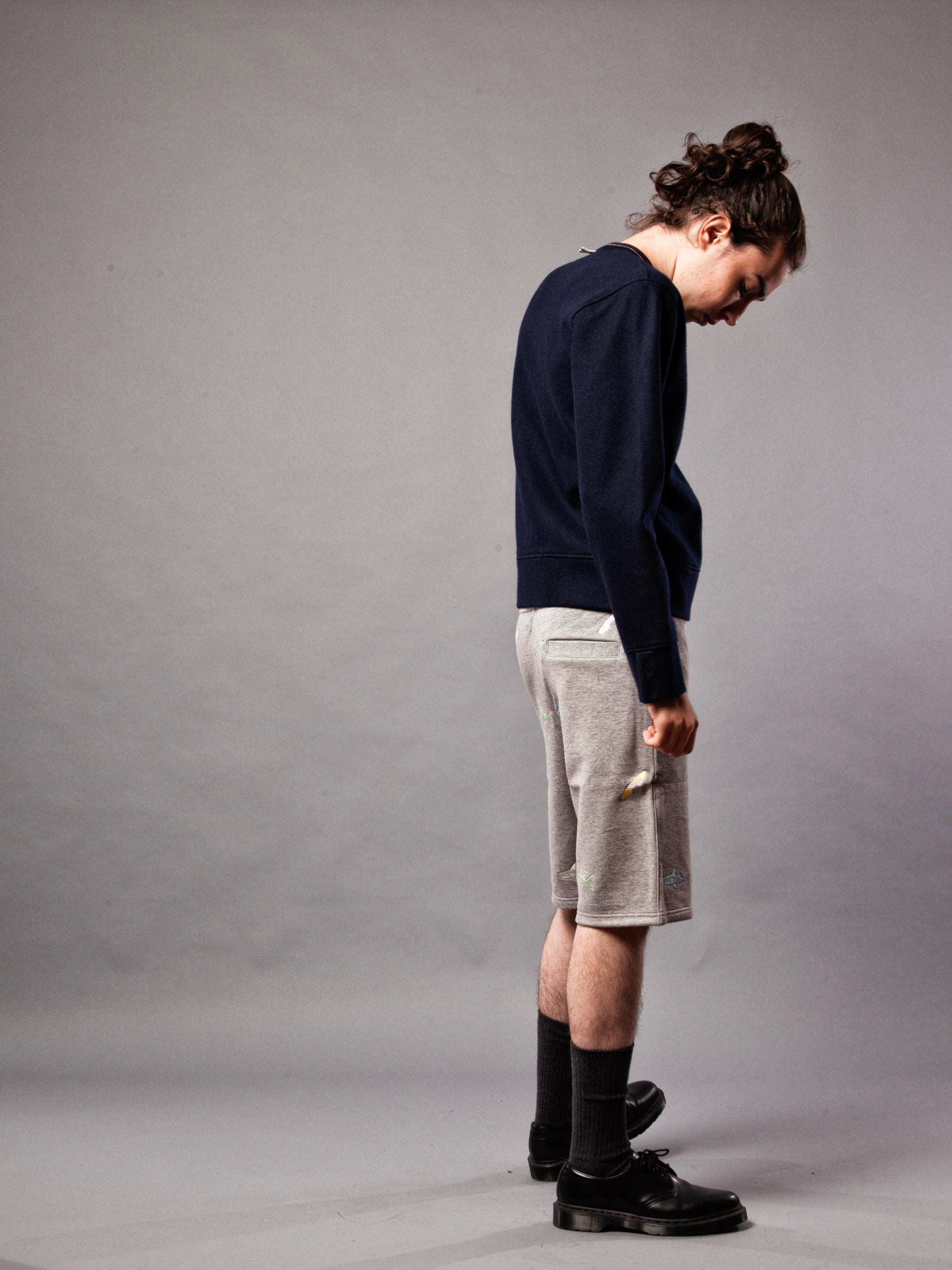 Navy LS Pullover (Boiled Wool) 3