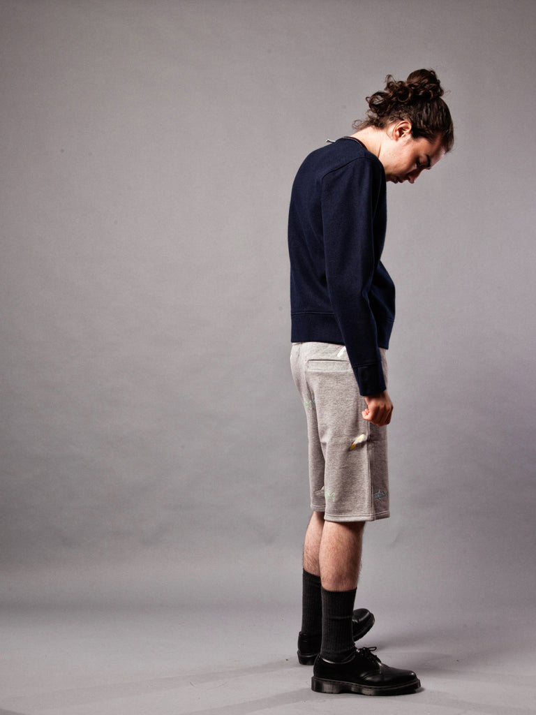 Navy LS Pullover (Boiled Wool) 320632382409