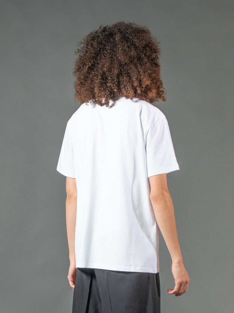 White Slim Fit Couple T-Shirt 515844394041421
