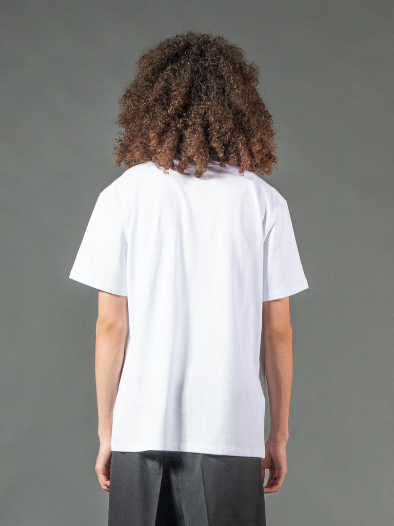 White Slim Fit Couple T-Shirt 615844394238029