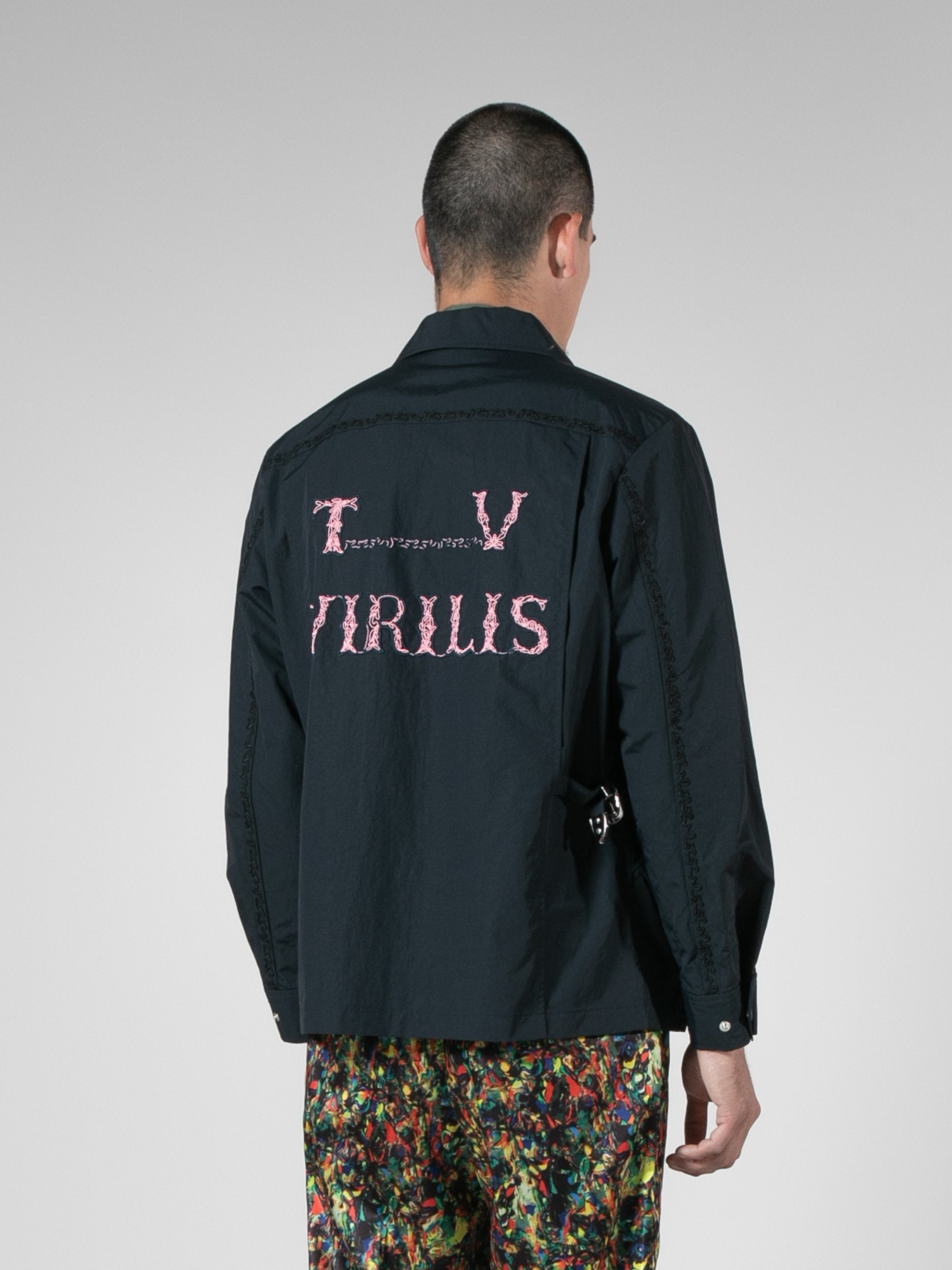 Nylon Tafetta Embroidery Jacket