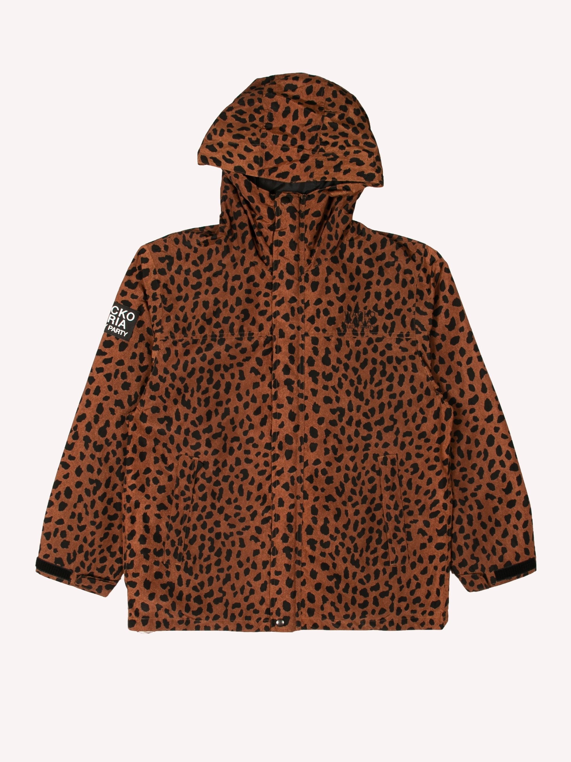 Brown Leopard Mountain Parka 1