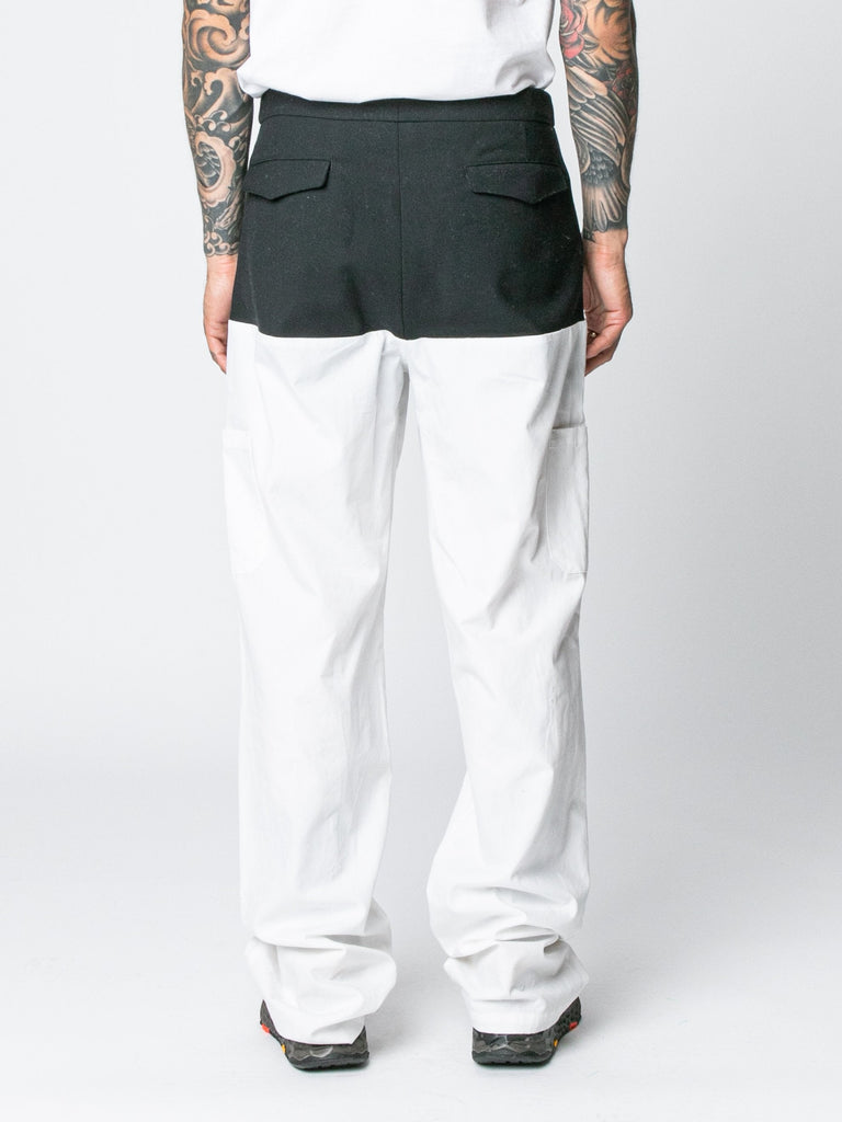 Pants With Horizontal Cut Pockets & Suspenders15844264083533