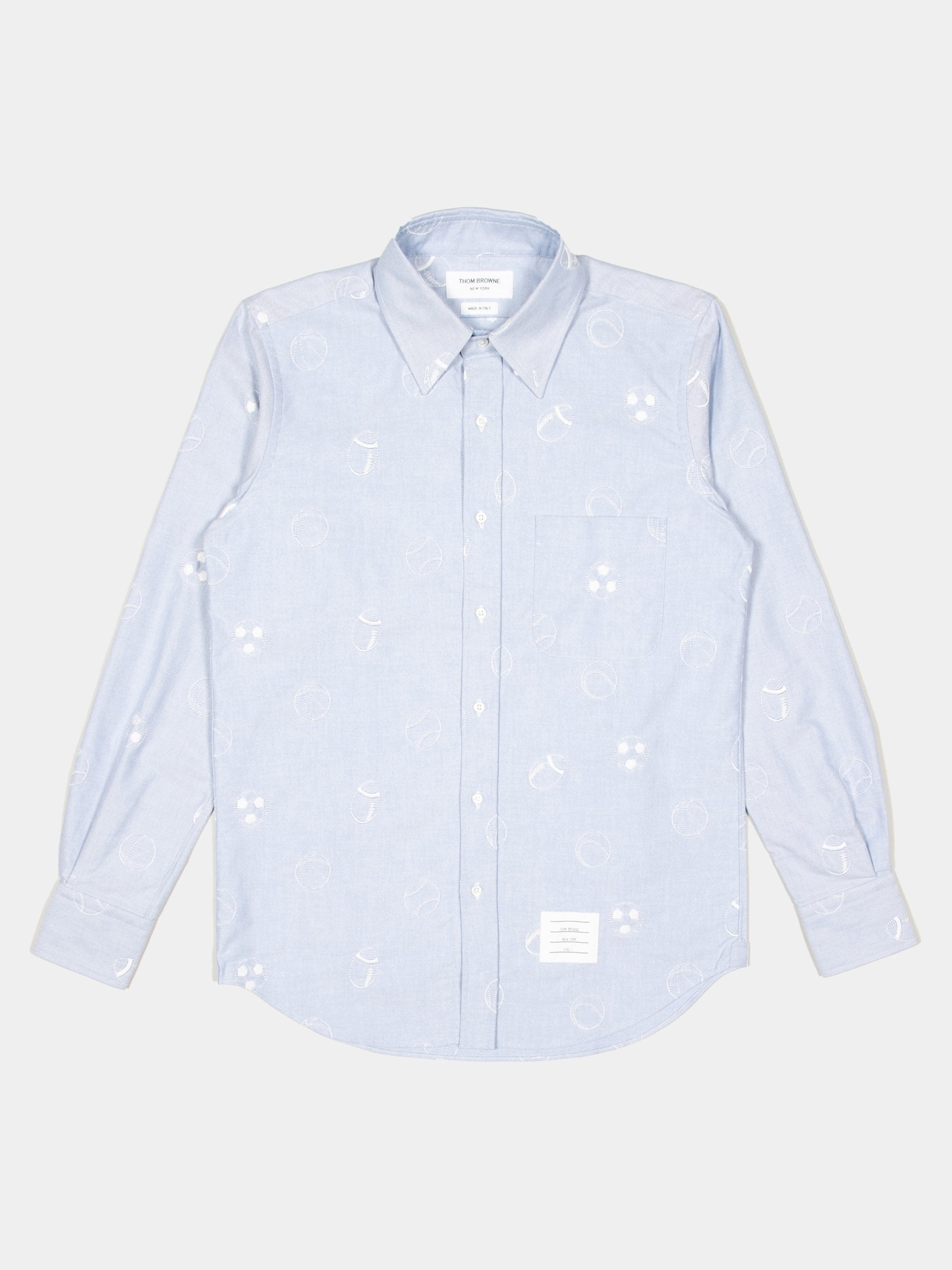 2 Straight Fit Button Down L/S Shirt In Multi Ball Embroidery 1