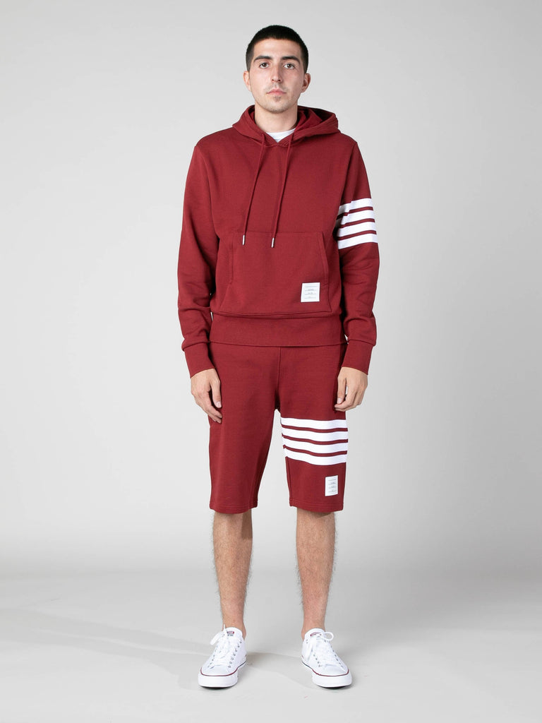 Med Red Hoodie Pullover In Classic Loop Back w/ Engineered 4 Bar 313570325282893