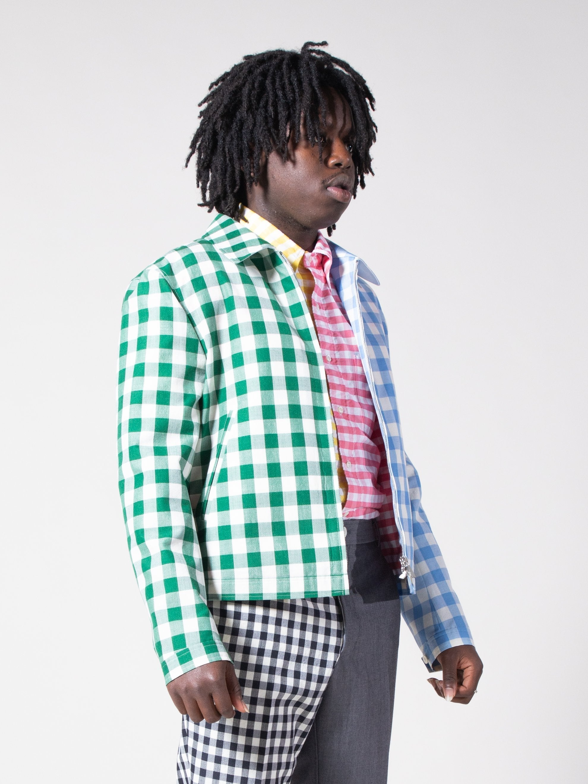 Fun Mix Gingham Golf Jacket