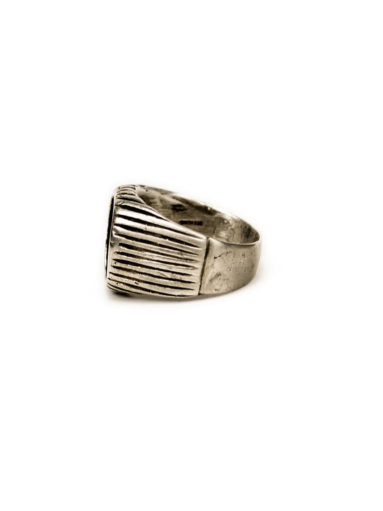 Vintage WWII Sterling Silver and Brass Army Ring