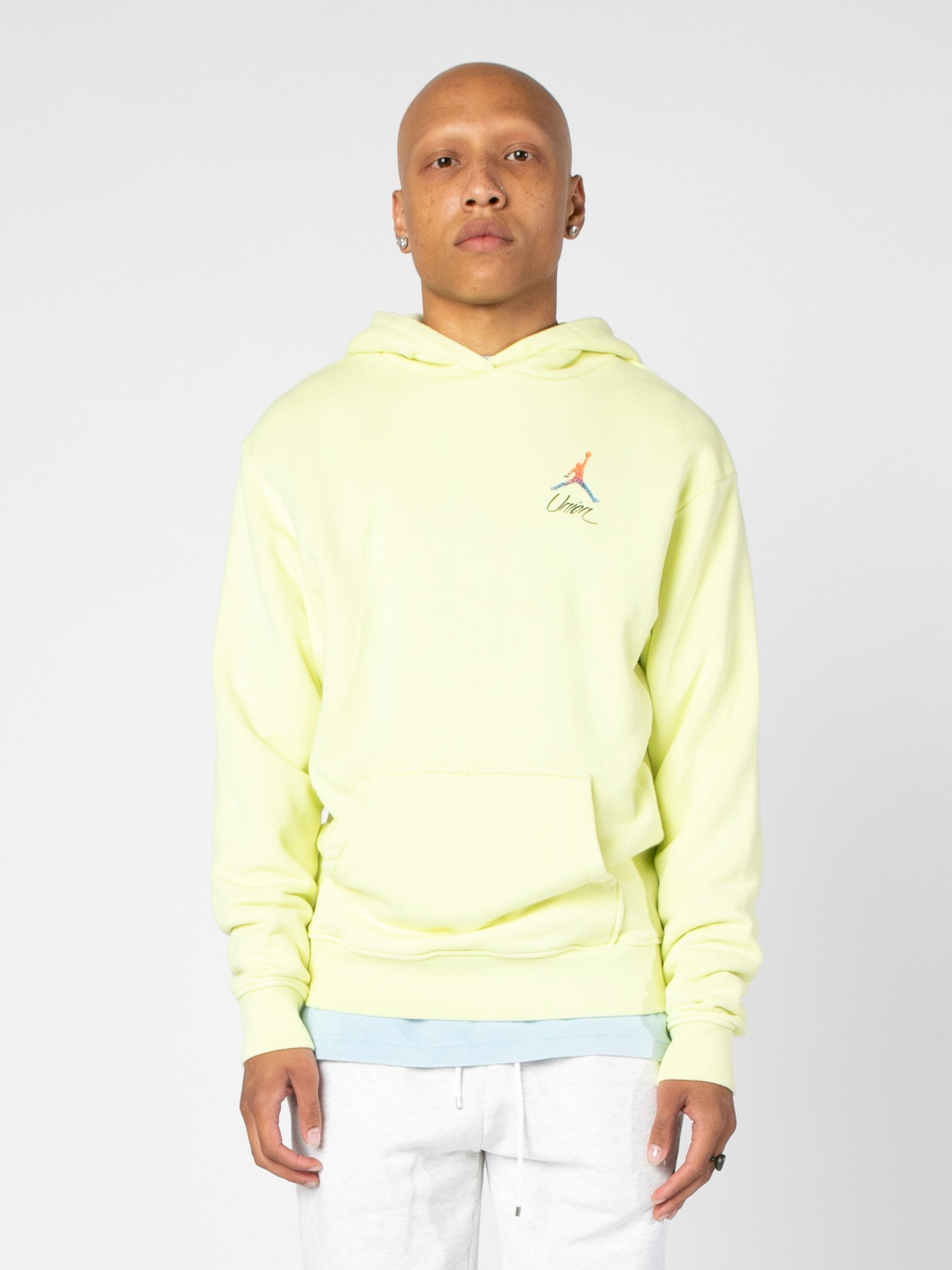 Luminous Green (Pale Yellow) Jordan x Union 2.0 PO Hoody 2