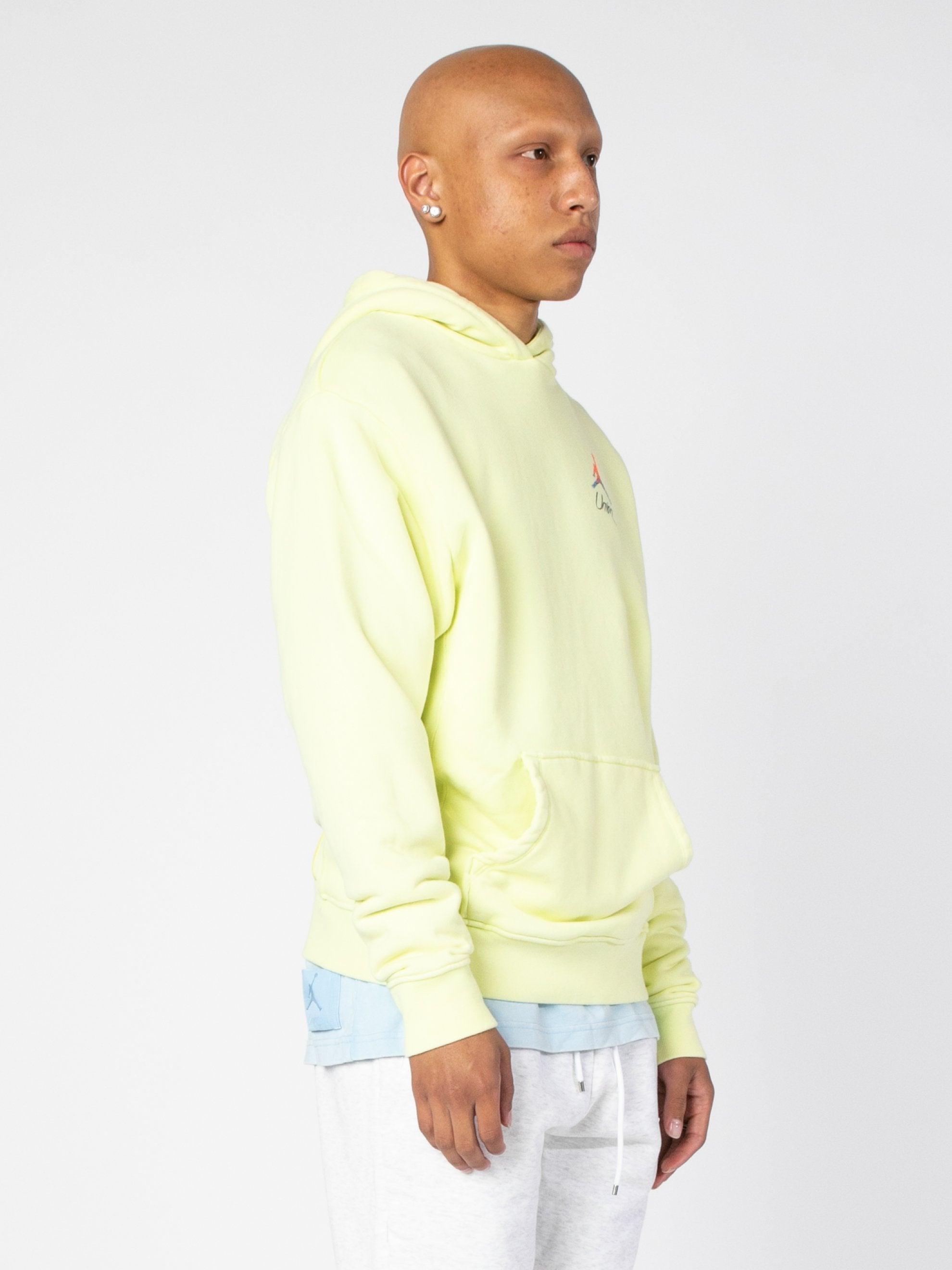 Luminous Green (Pale Yellow) Jordan x Union 2.0 PO Hoody 4