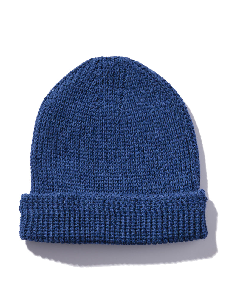 Blue Knit Beanie (Cotton) 38256360901