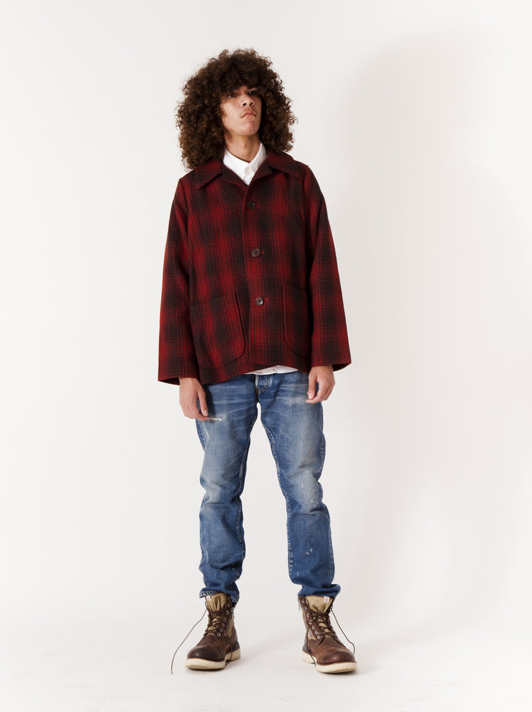 Red McKinley Jacket Buffalo Check 315804453833