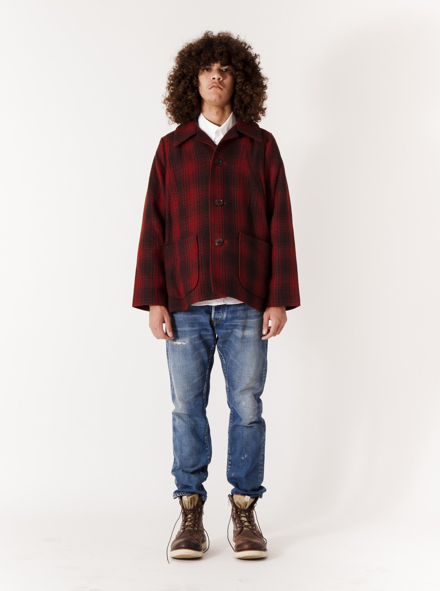 Red McKinley Jacket Buffalo Check 2