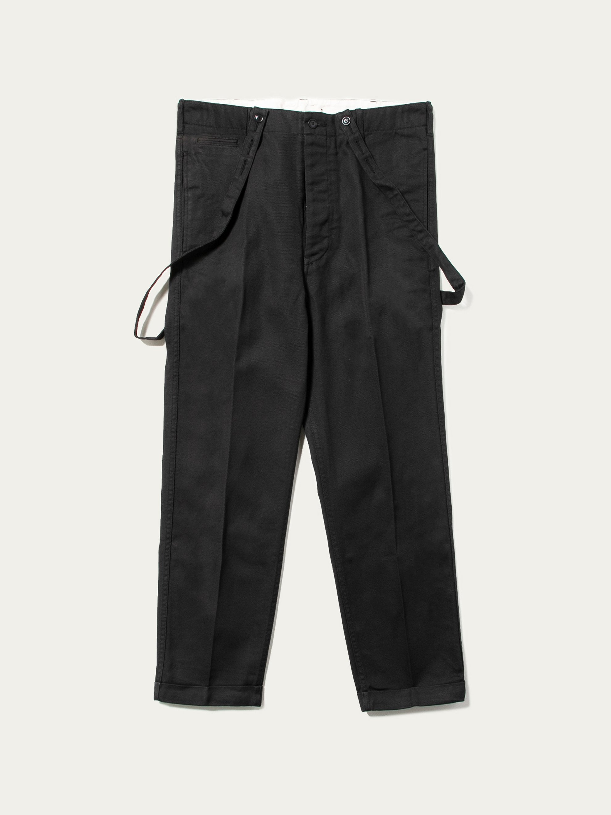 Black Camus Braces Pants 1