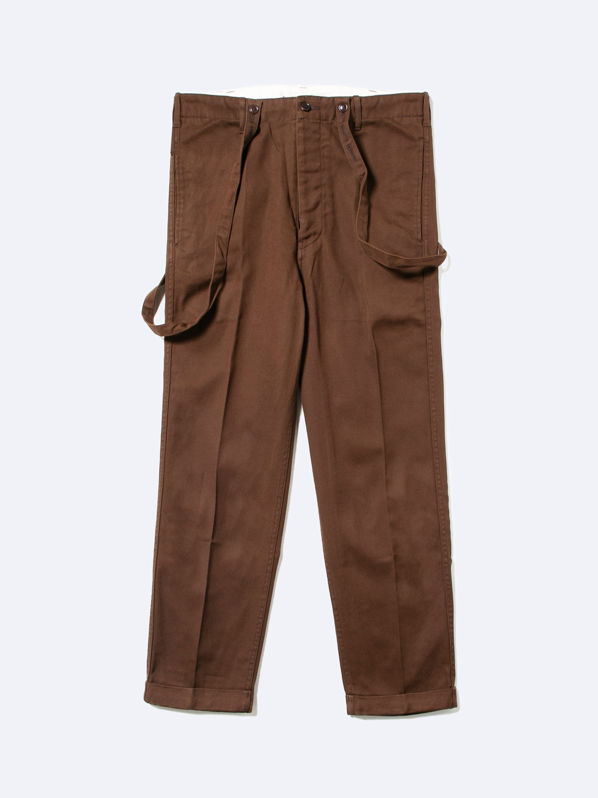 Brown Camus Braces Pants 1