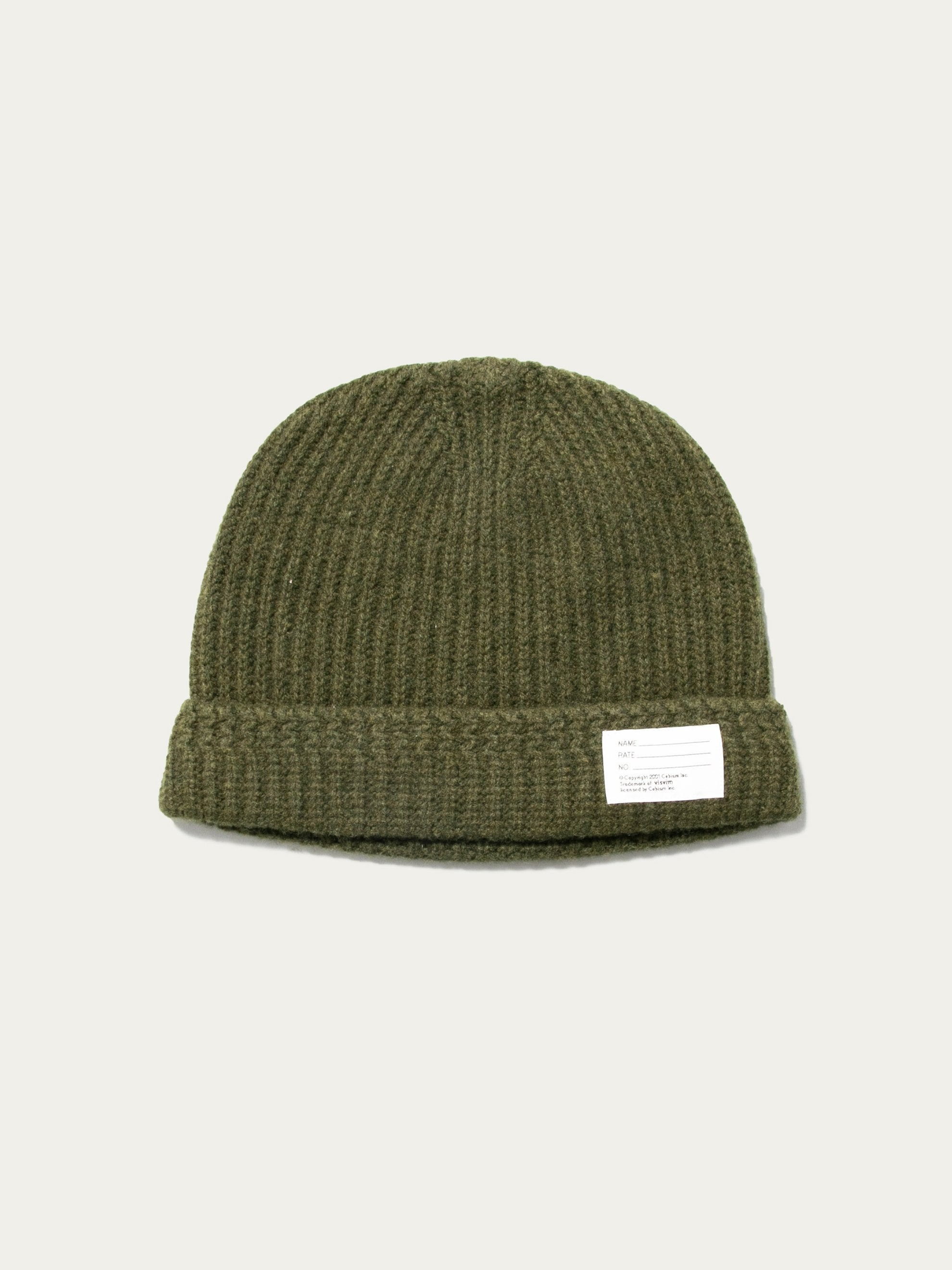 Olive Knit Beanie (Wool) 1