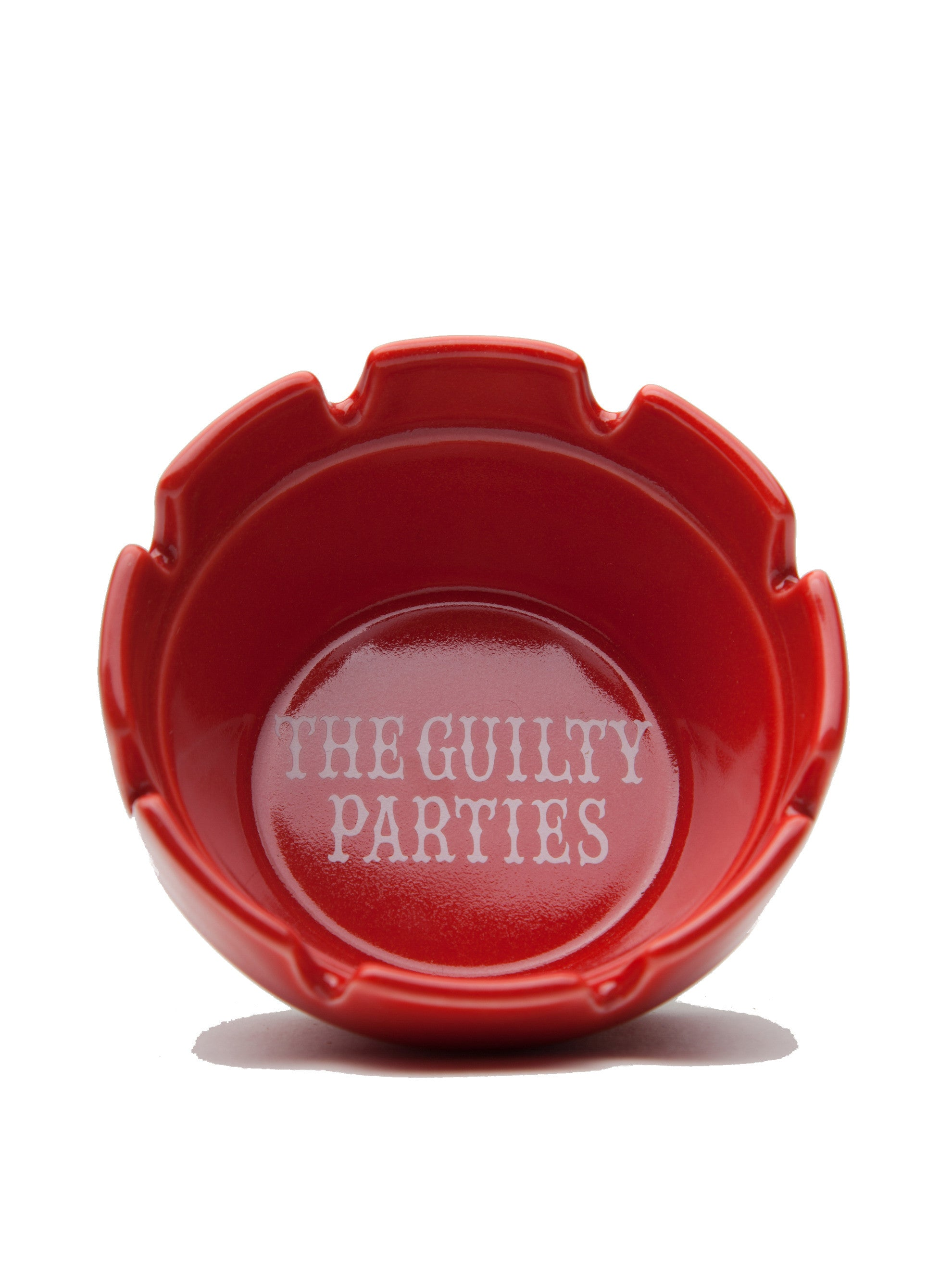 White Guilty Parties Ashtray 3