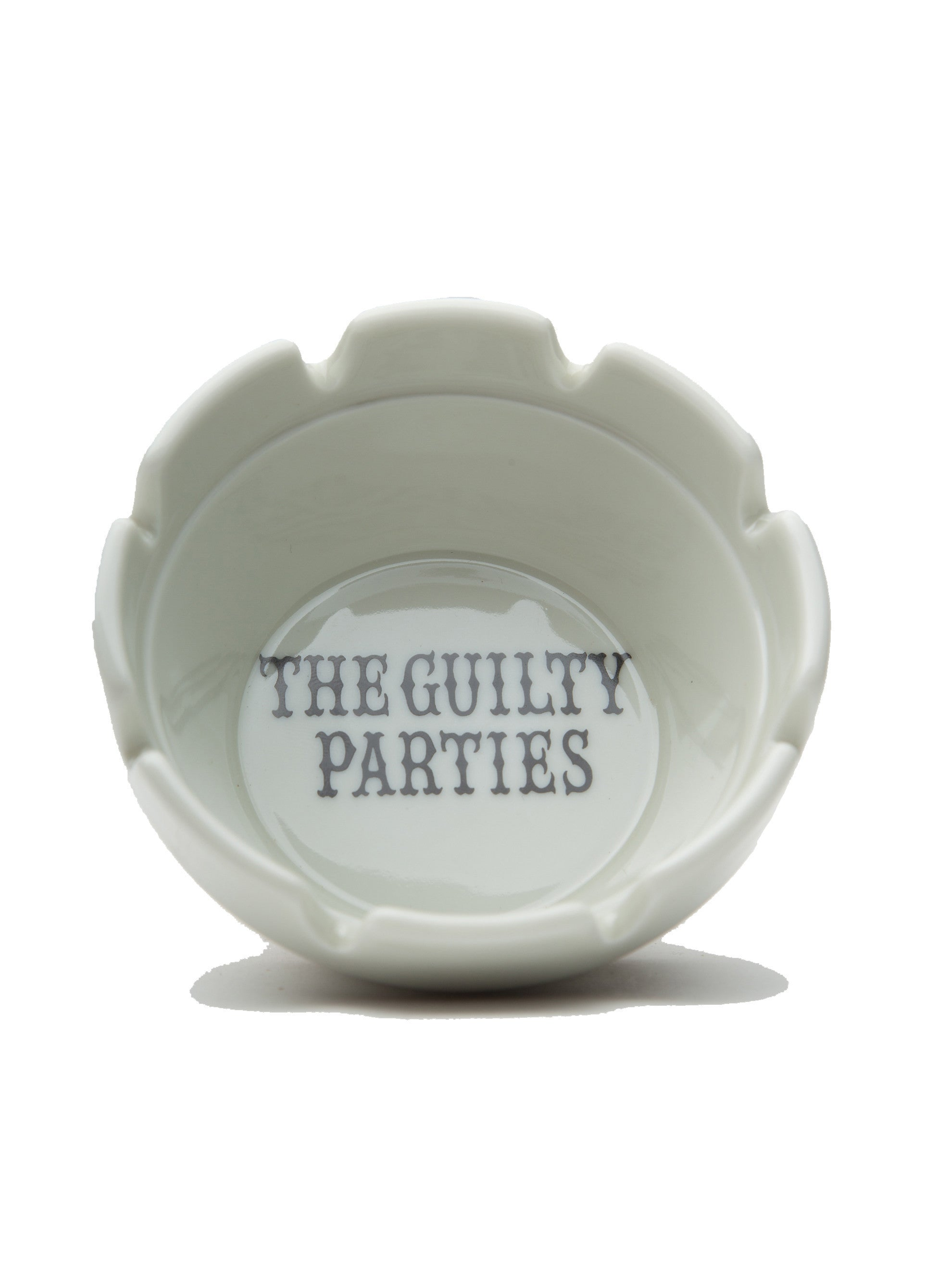 White Guilty Parties Ashtray 2