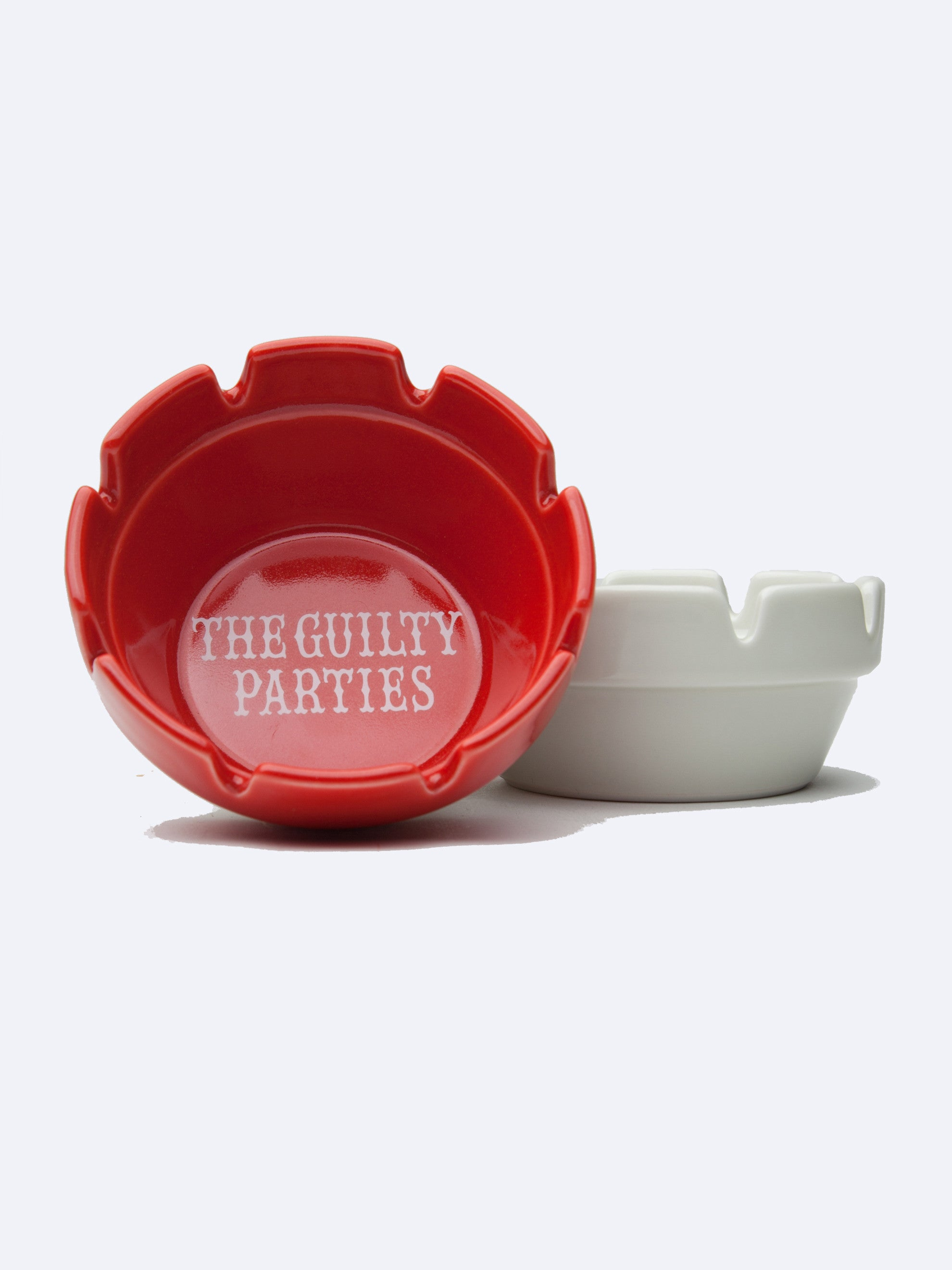 Red Guilty Parties Ashtray 1