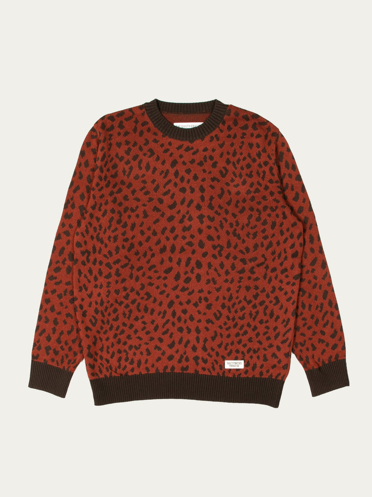 Leopard Jacquard Sweater (Type-2)