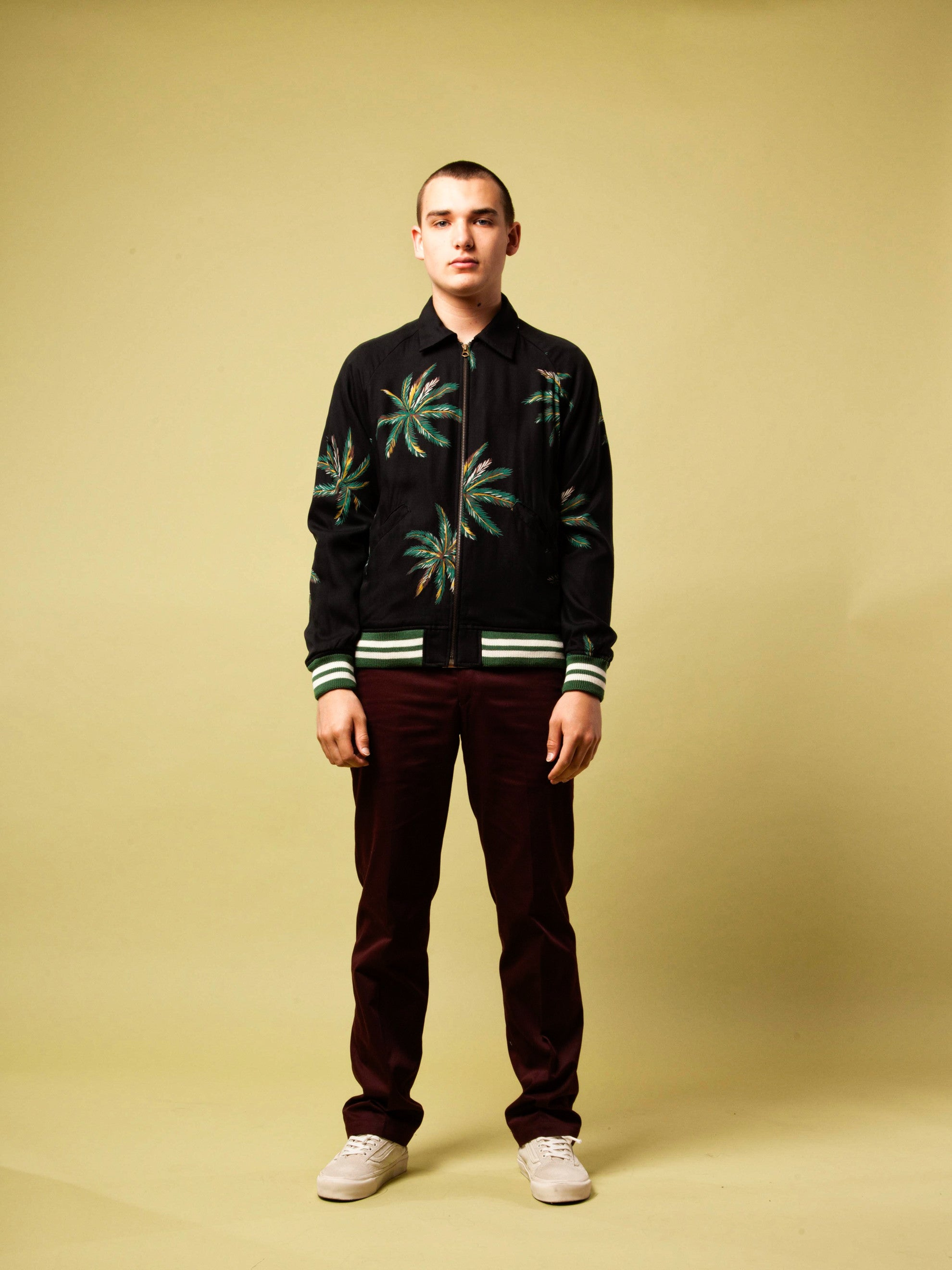 Black Sports Jacket (Palms) 2