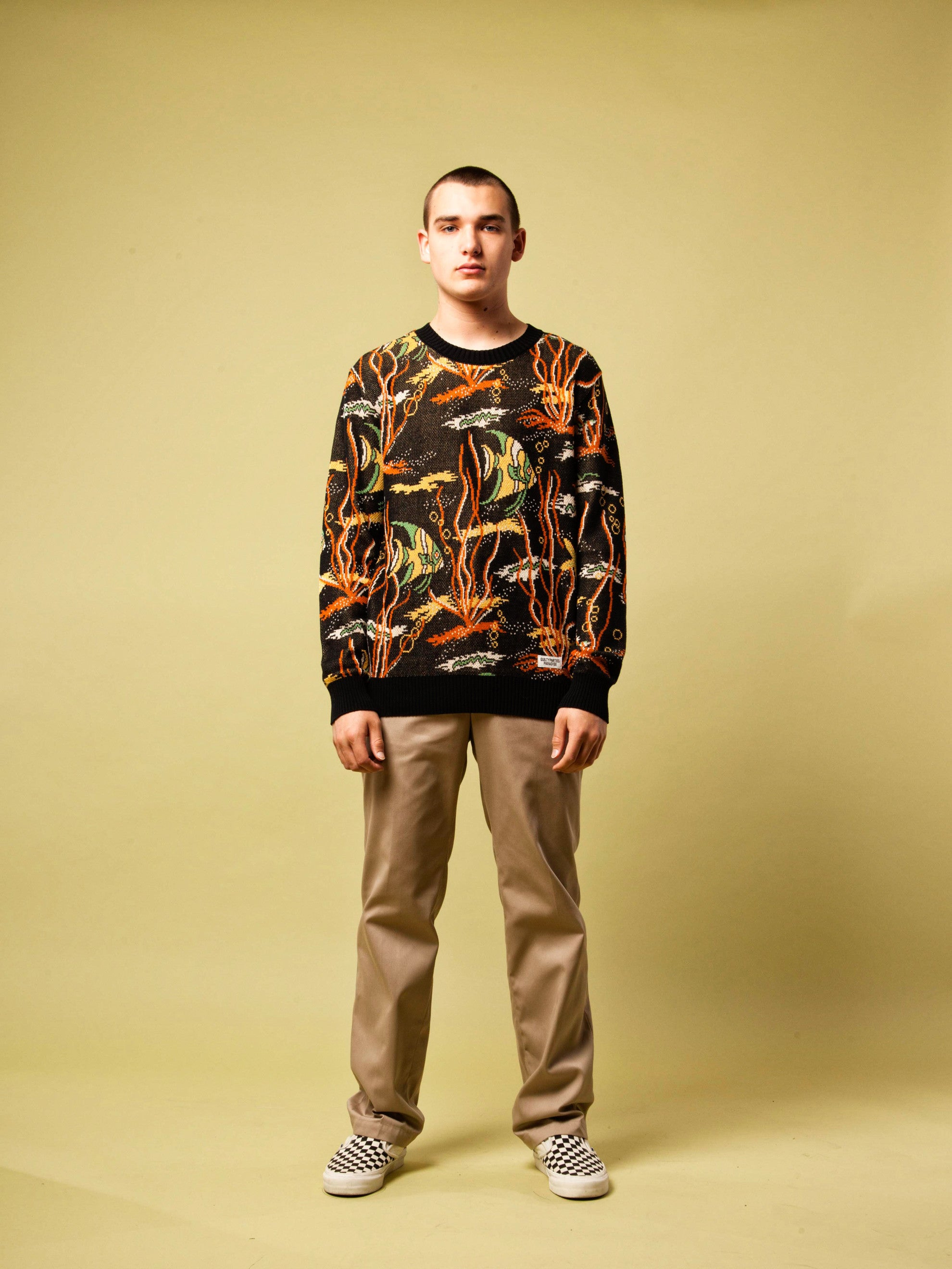 Black Tropical Fish Jacquard Sweater 2