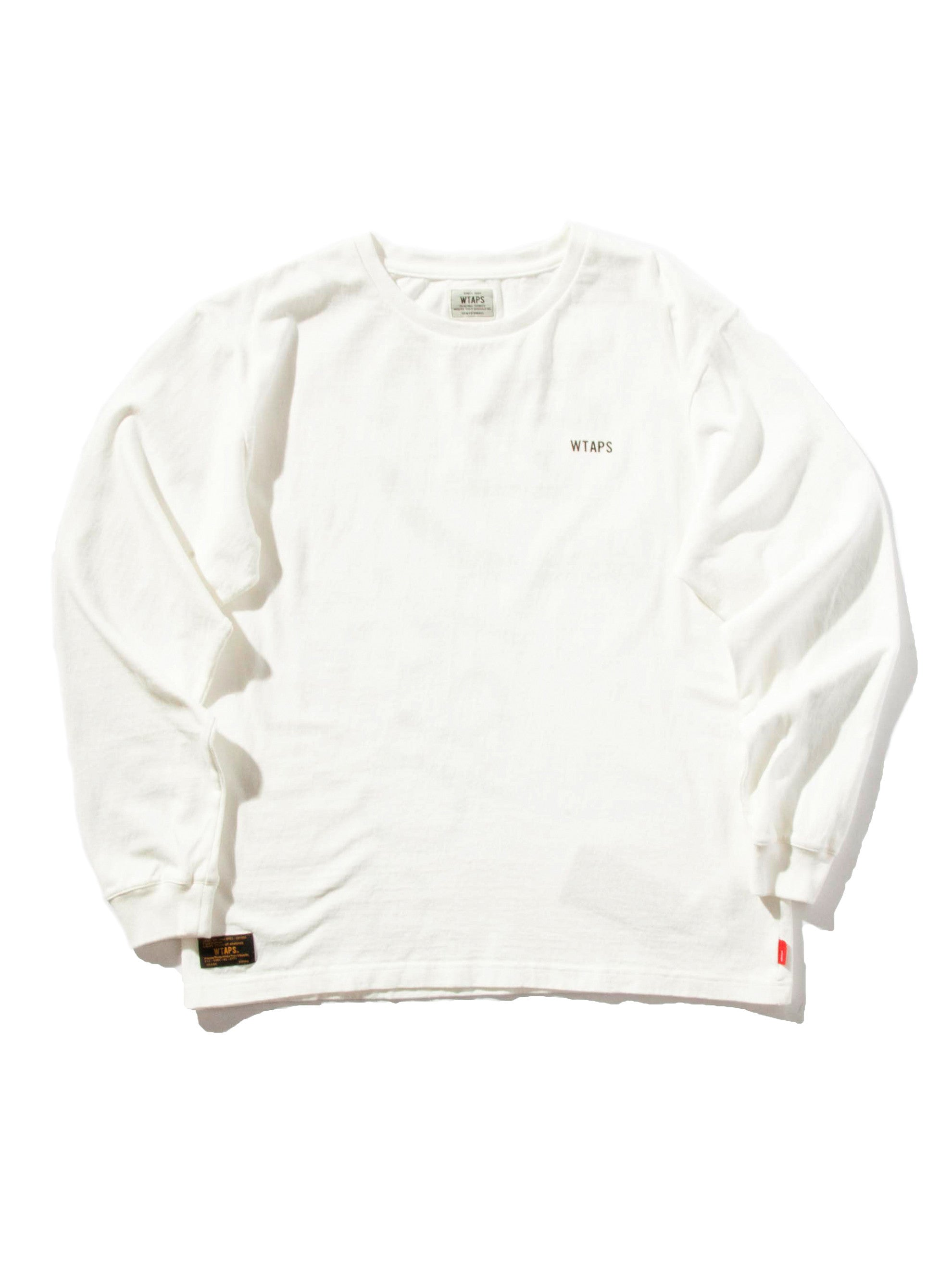 White Design LS GPS T-Shirt (Loop Wheel) 10