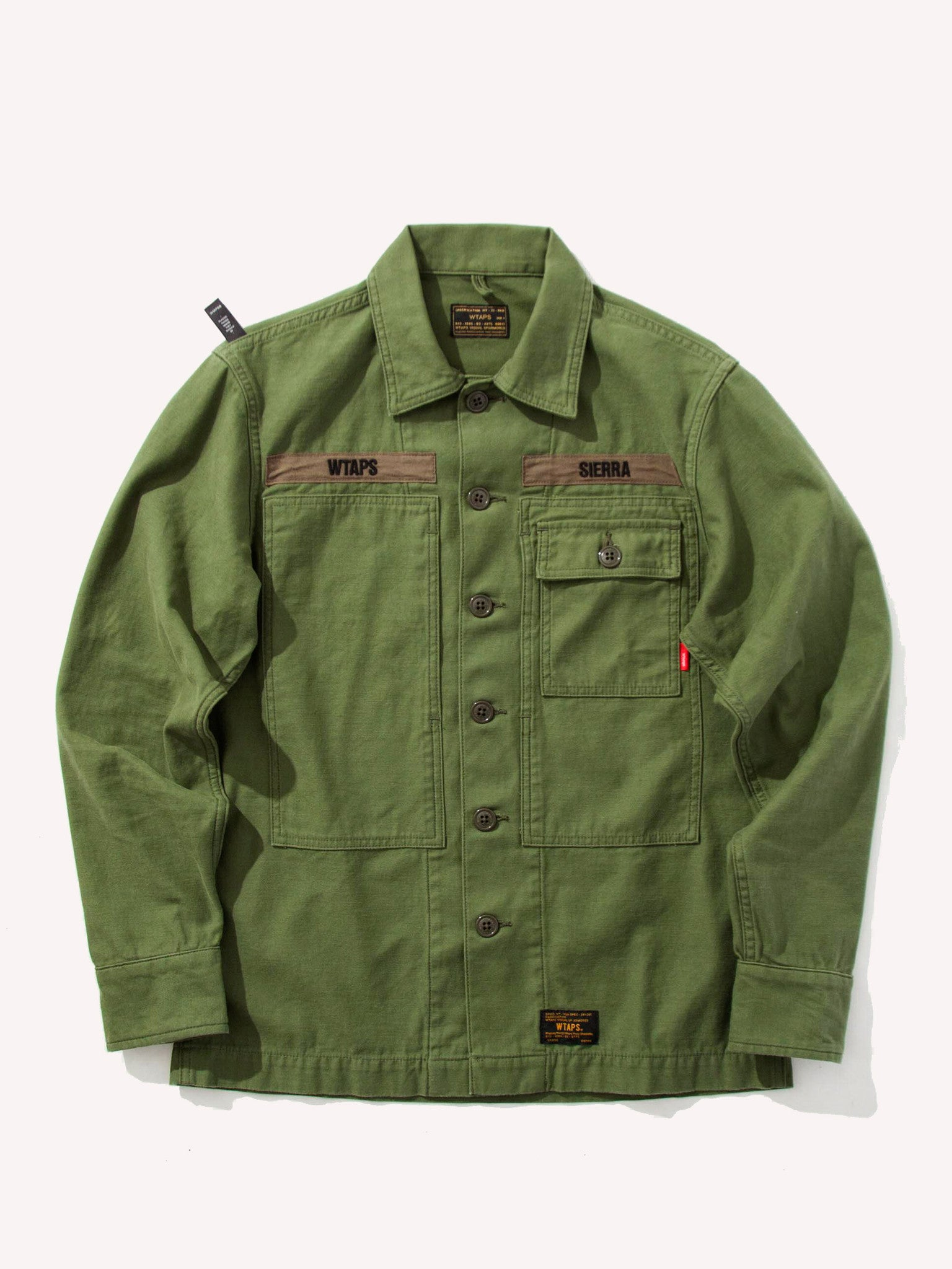 Olive Drab HBT LS 01 Shirt (Cotton/Satin) 1