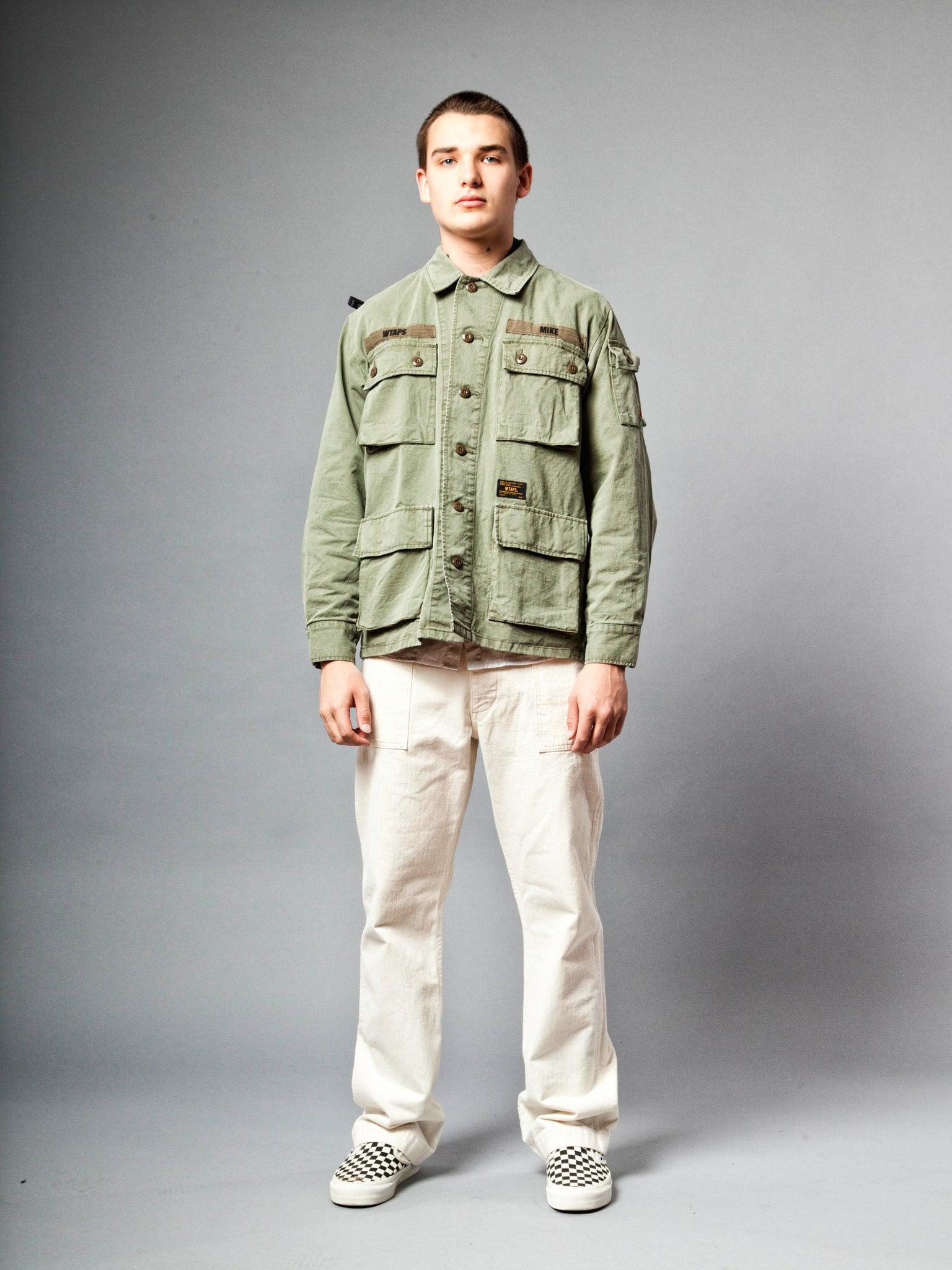 Olive Drab Jungle Shirt (Cotton Chino) 2