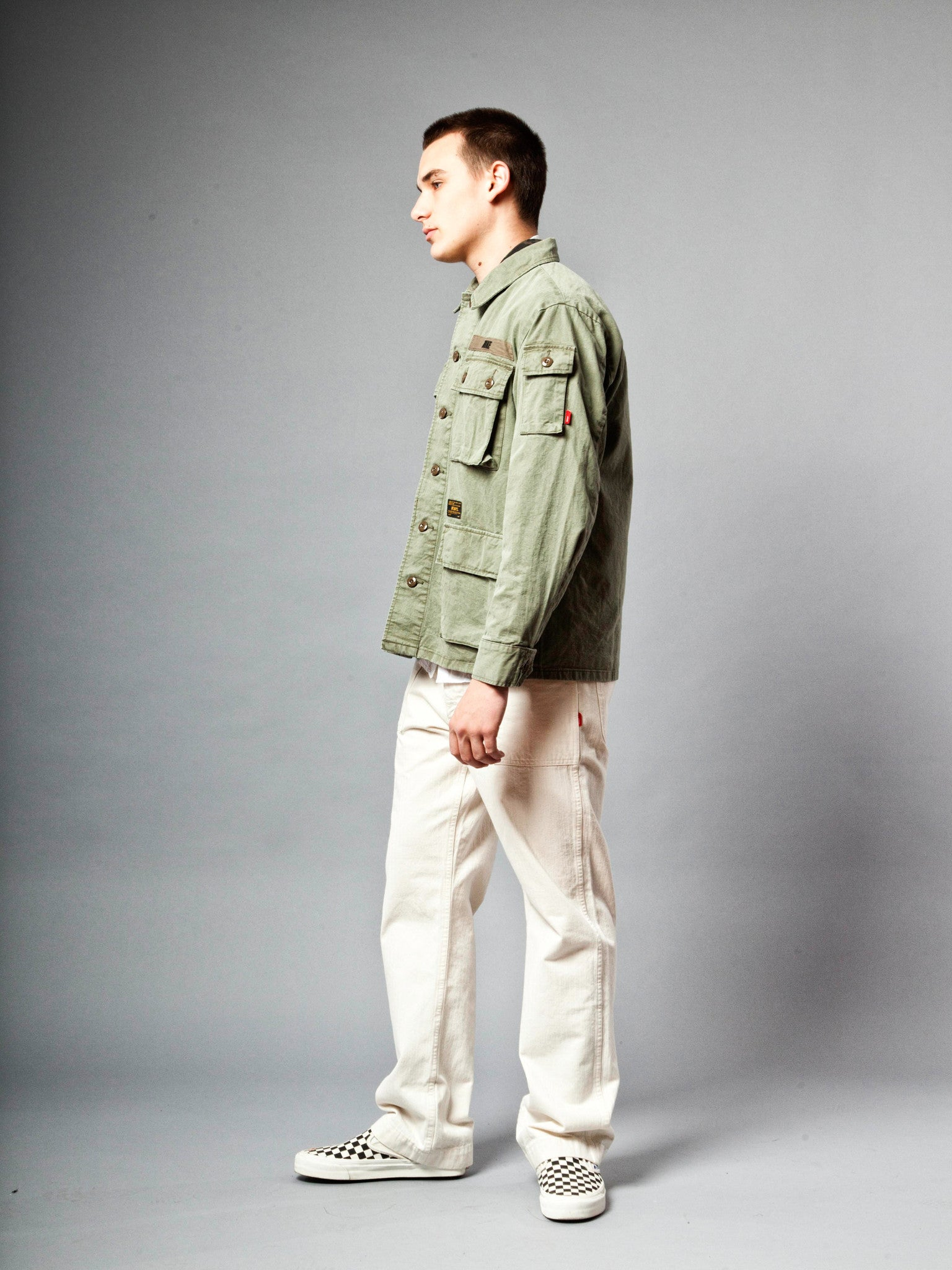 Olive Drab Jungle Shirt (Cotton Chino) 3