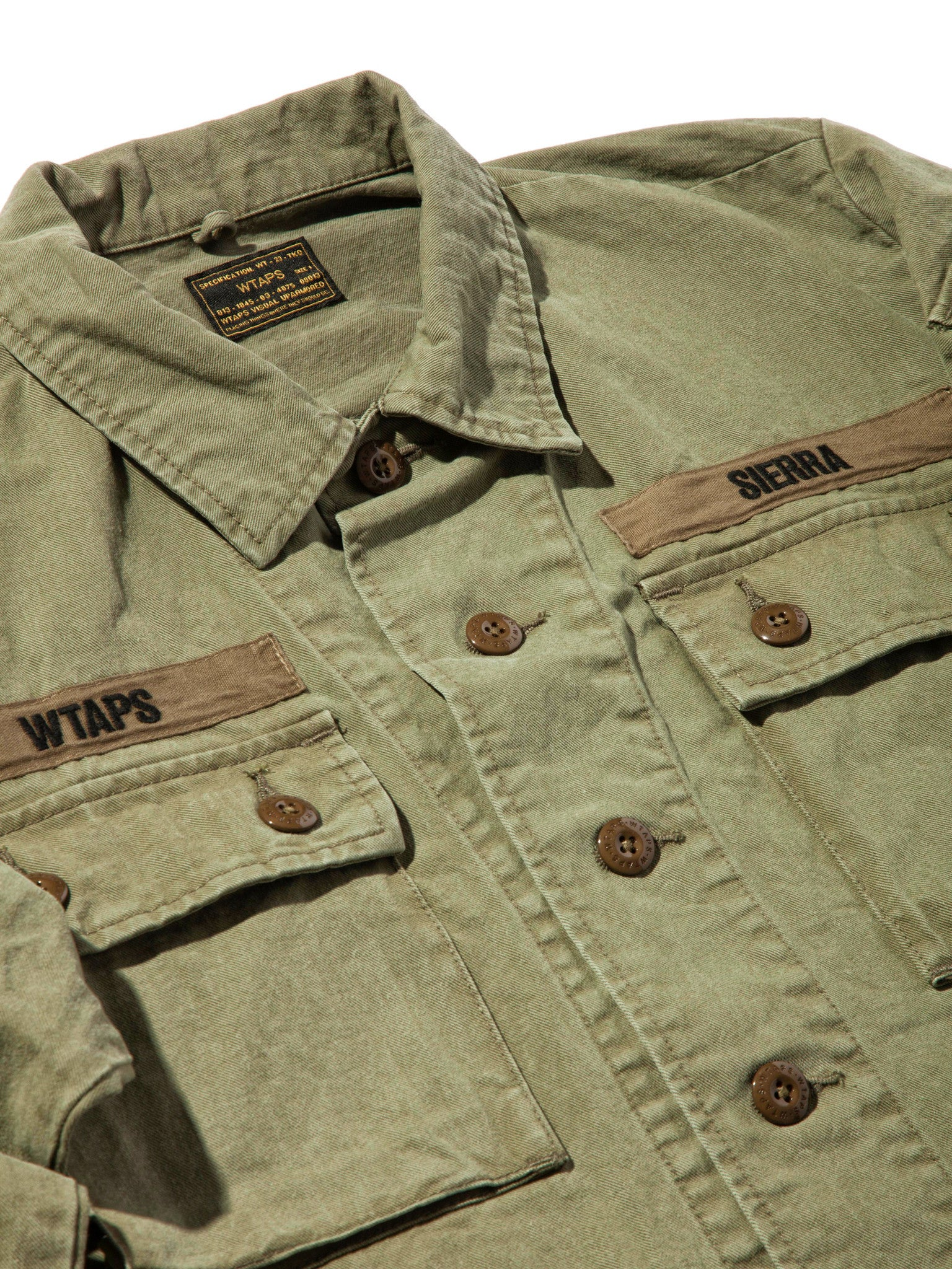 Olive Drab Jungle Shirt (Cotton Chino) 6
