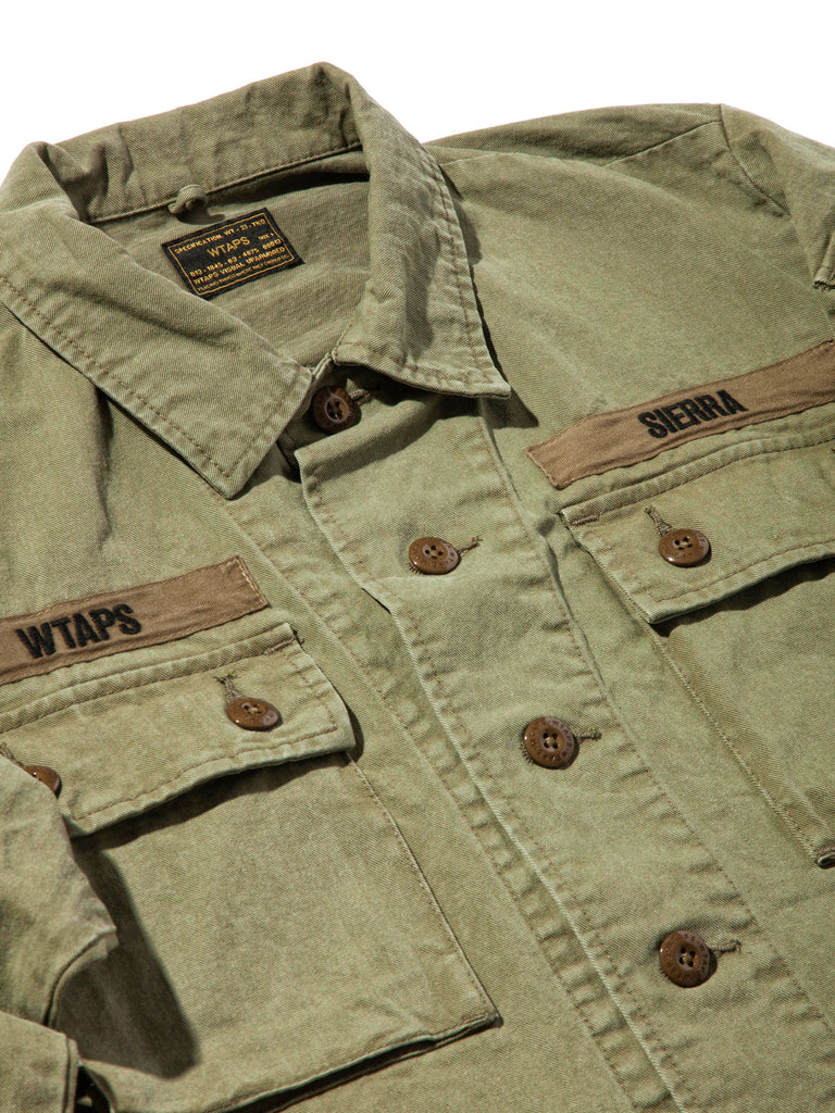 Olive Drab Jungle Shirt (Cotton Chino) 619674744329