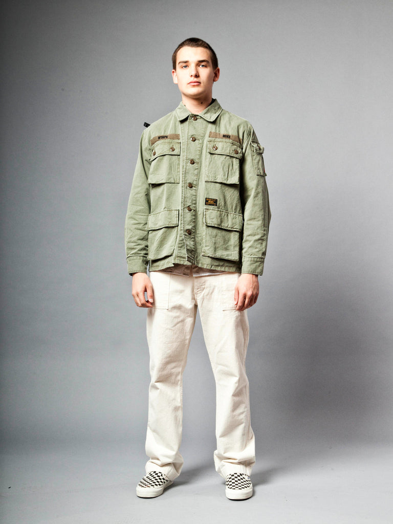 Olive Drab Jungle Shirt (Cotton Chino) 219674747849