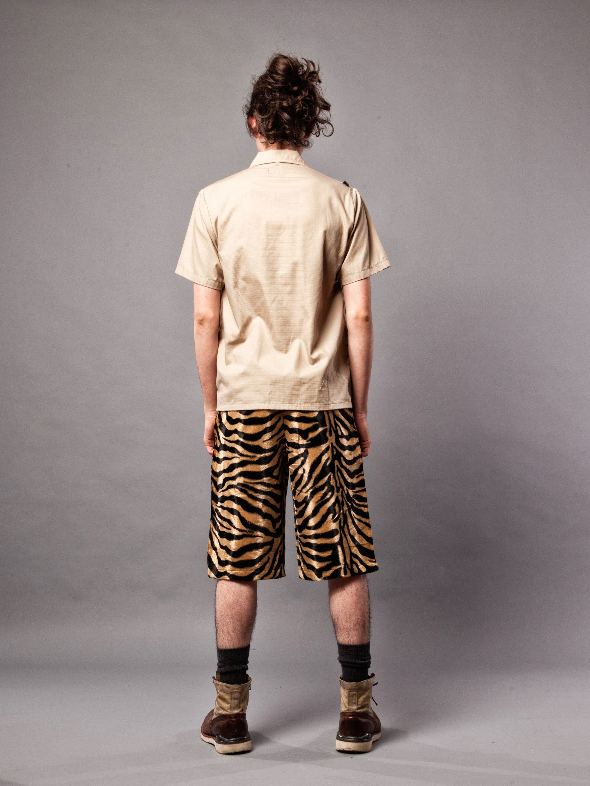 Tiger Stripe Paw Shorts 5