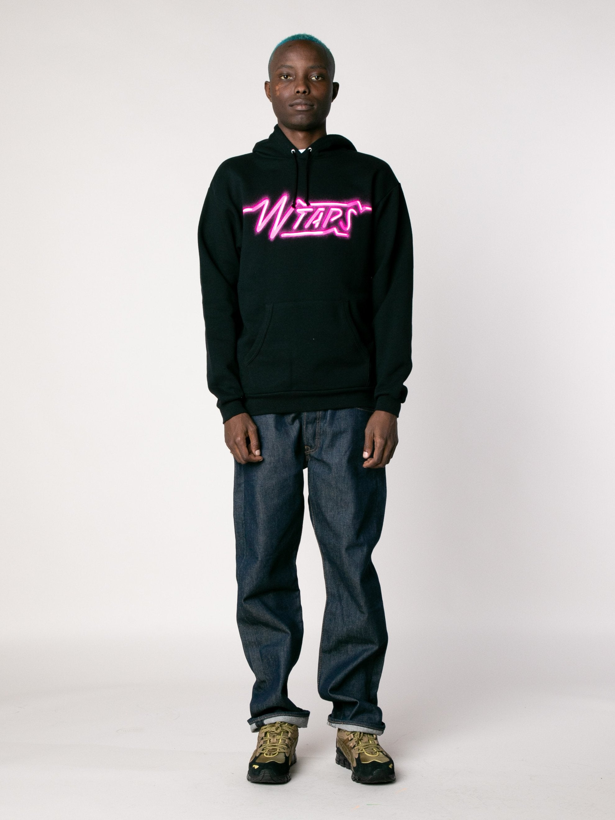 Black SIZER Hooded Sweatshirt 3