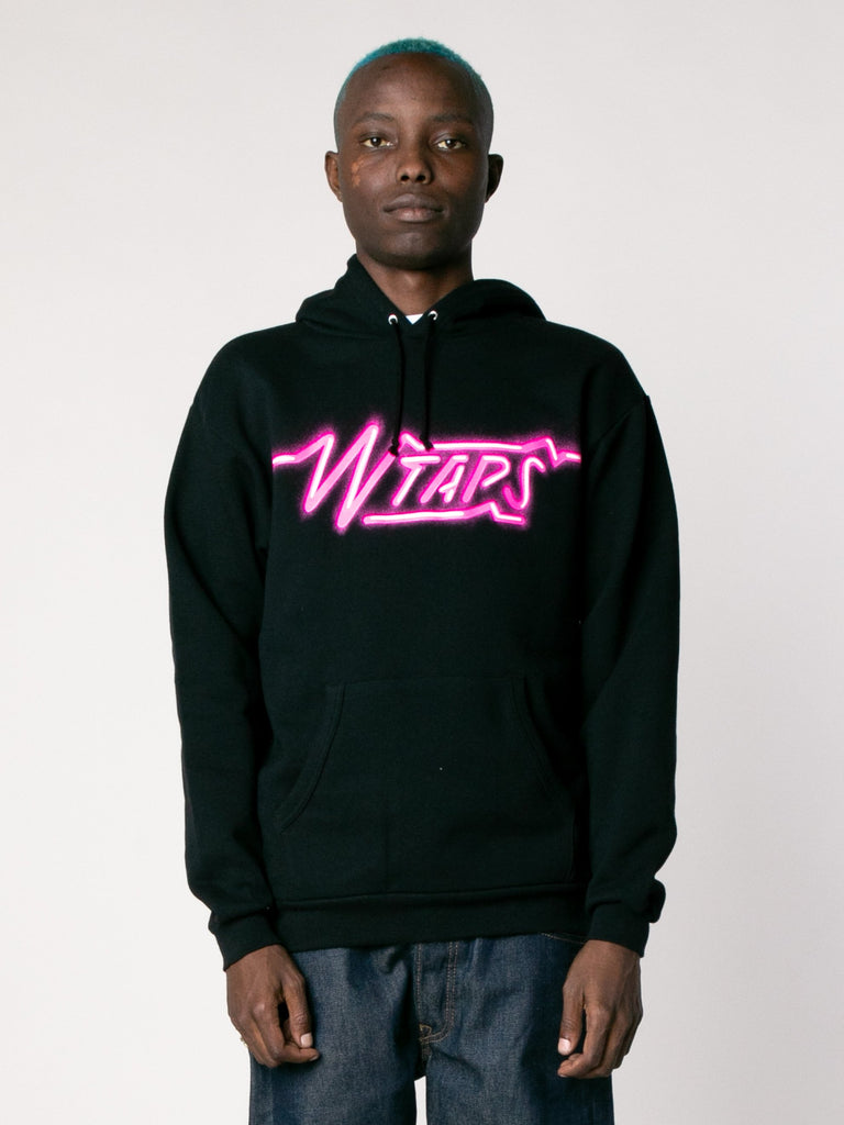 Black SIZER Hooded Sweatshirt 213866047242317
